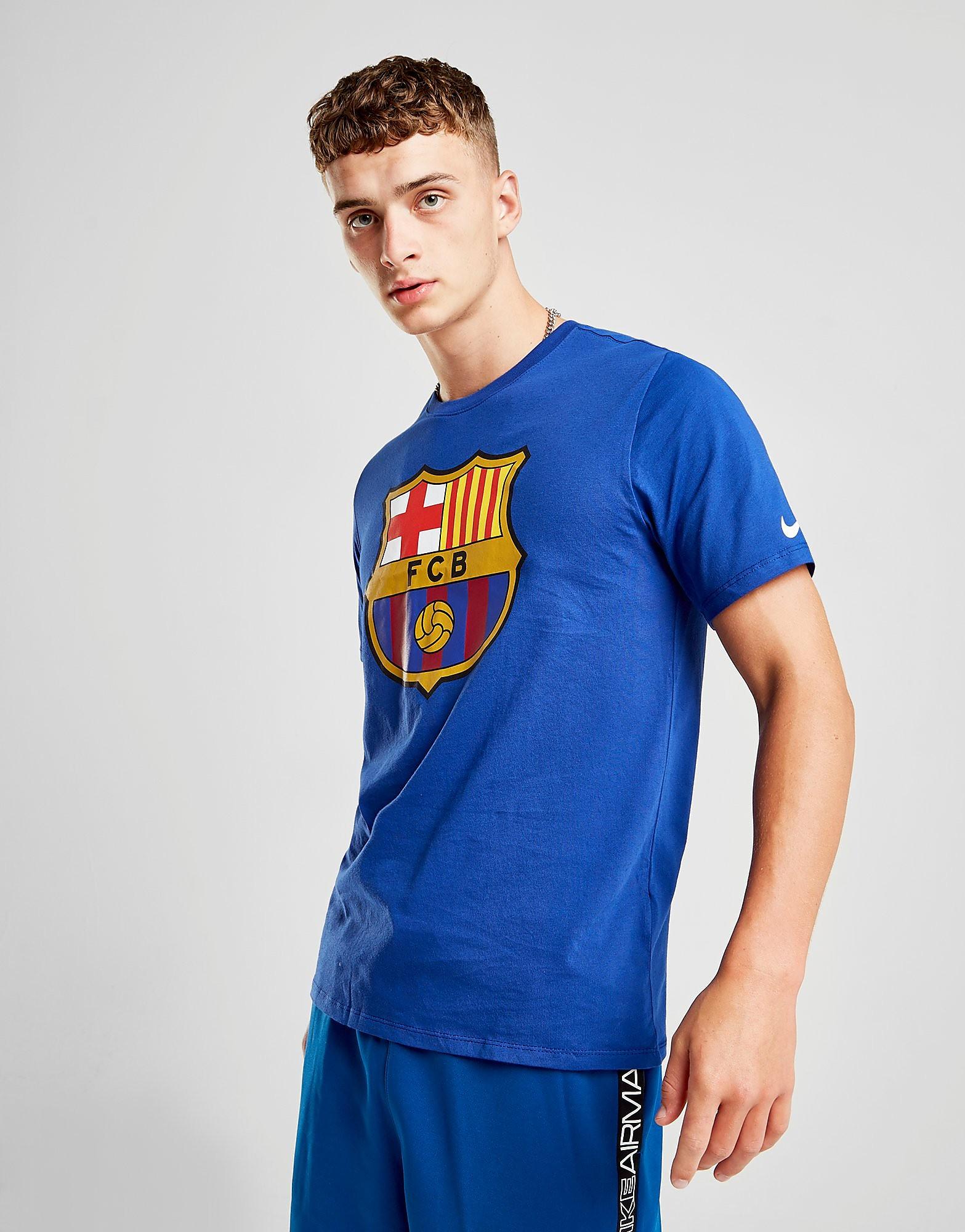 Nike FC Barcelona Crest T-Shirt - Blauw - Heren