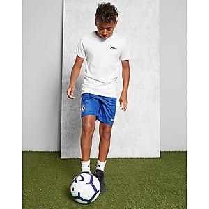 ... NIKE 2018 19 Chelsea FC Stadium Home Away Older Kids  Football Shorts e8b263d47