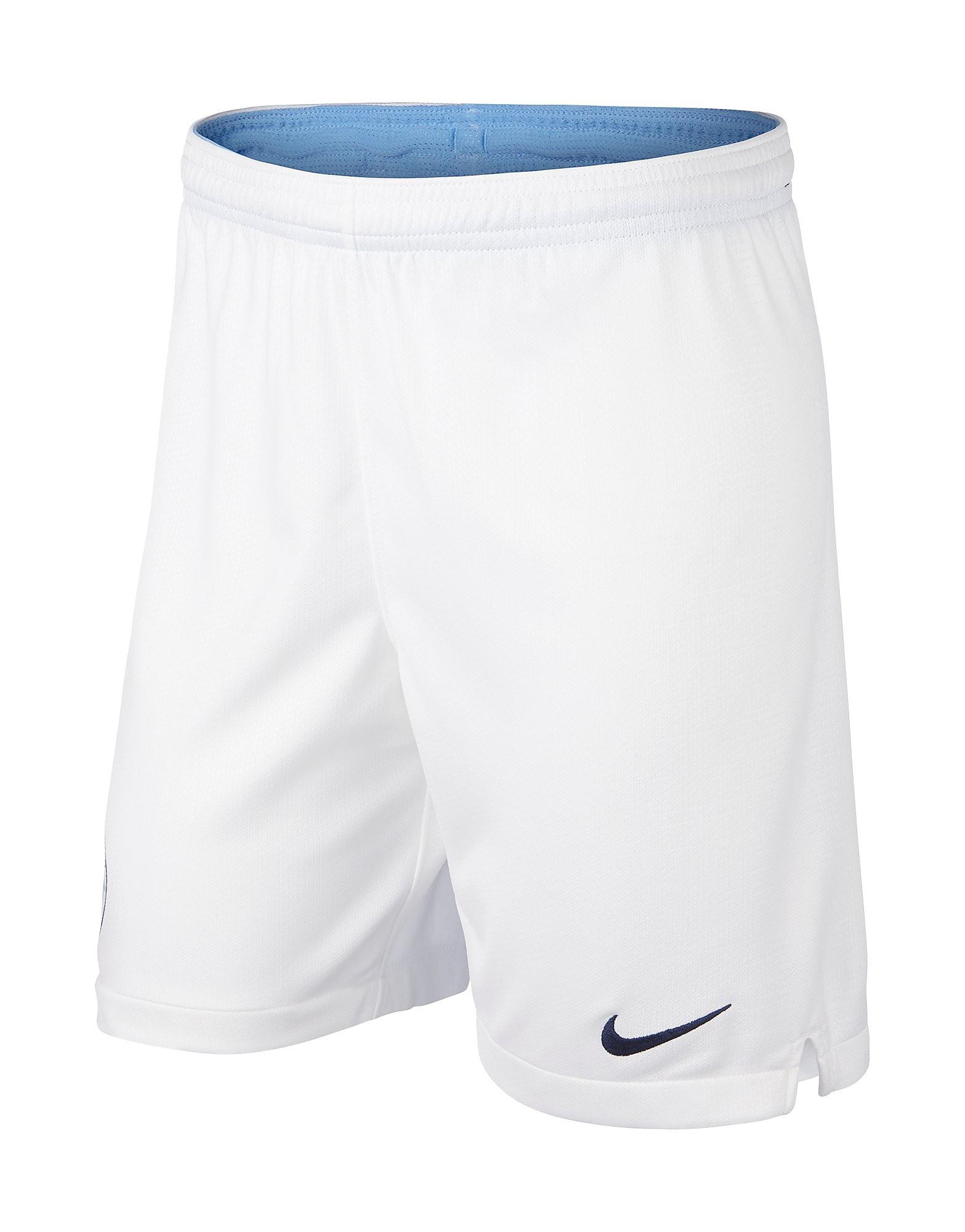 Nike Manchester City FC 18/19 Home Short Junior - Wit - Kind