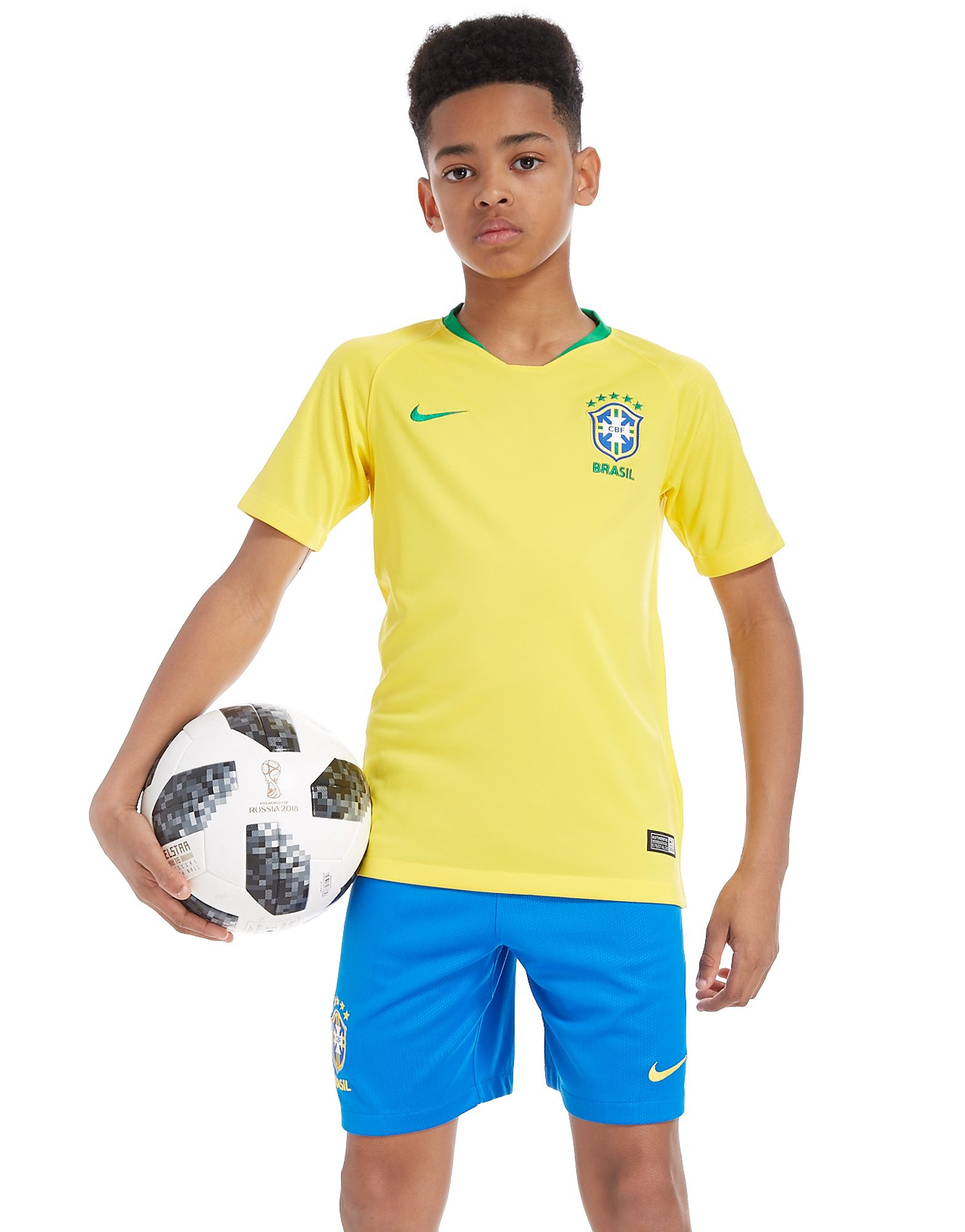 Nike Brazil 2018 Home Shorts Junior
