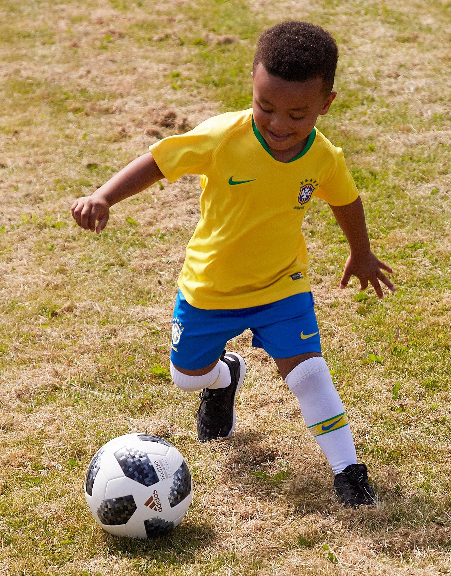 Nike conjunto Brasil 2018 1.ª equipación infantil