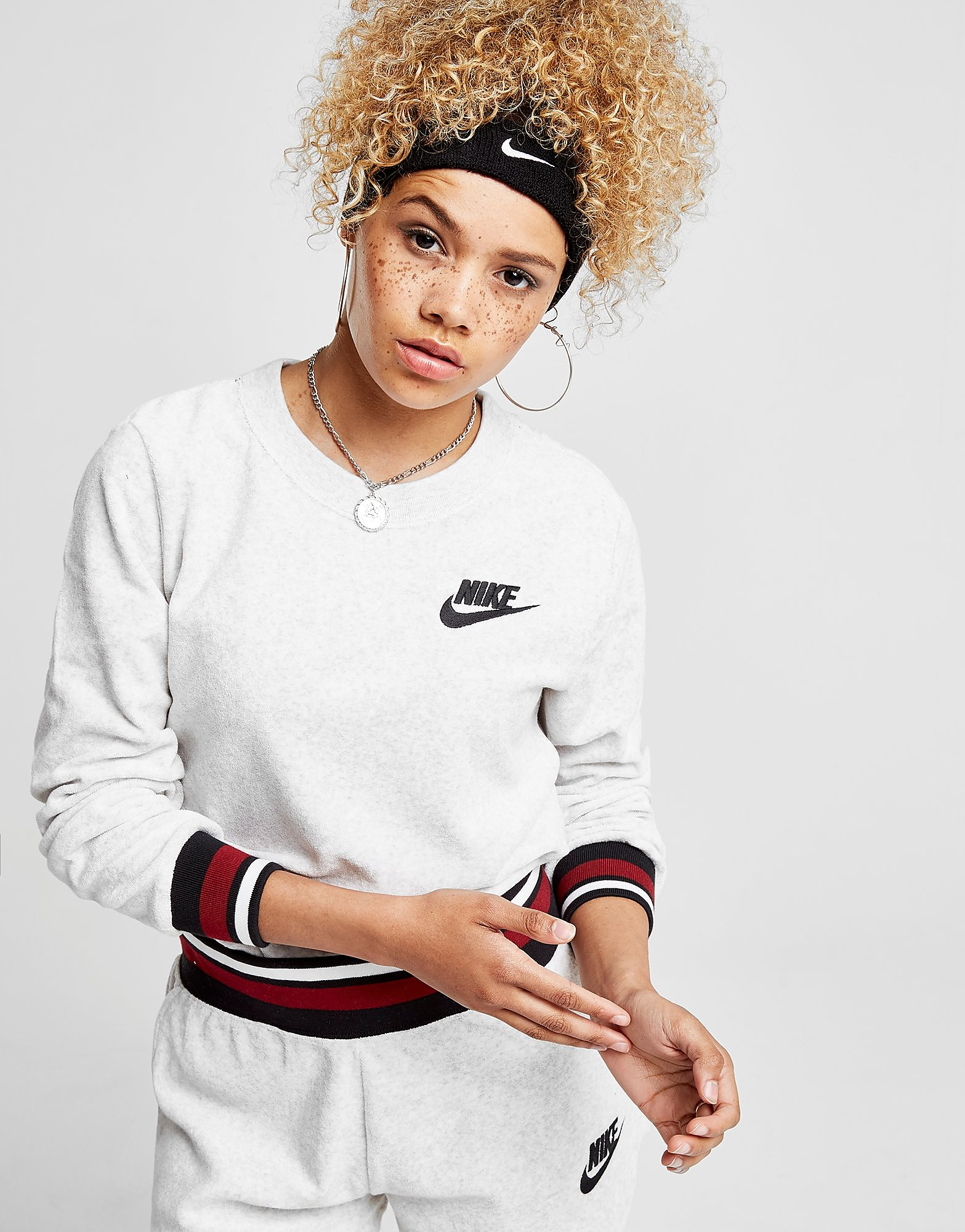 Nike Towel Stripe Crew Sweatshirt
