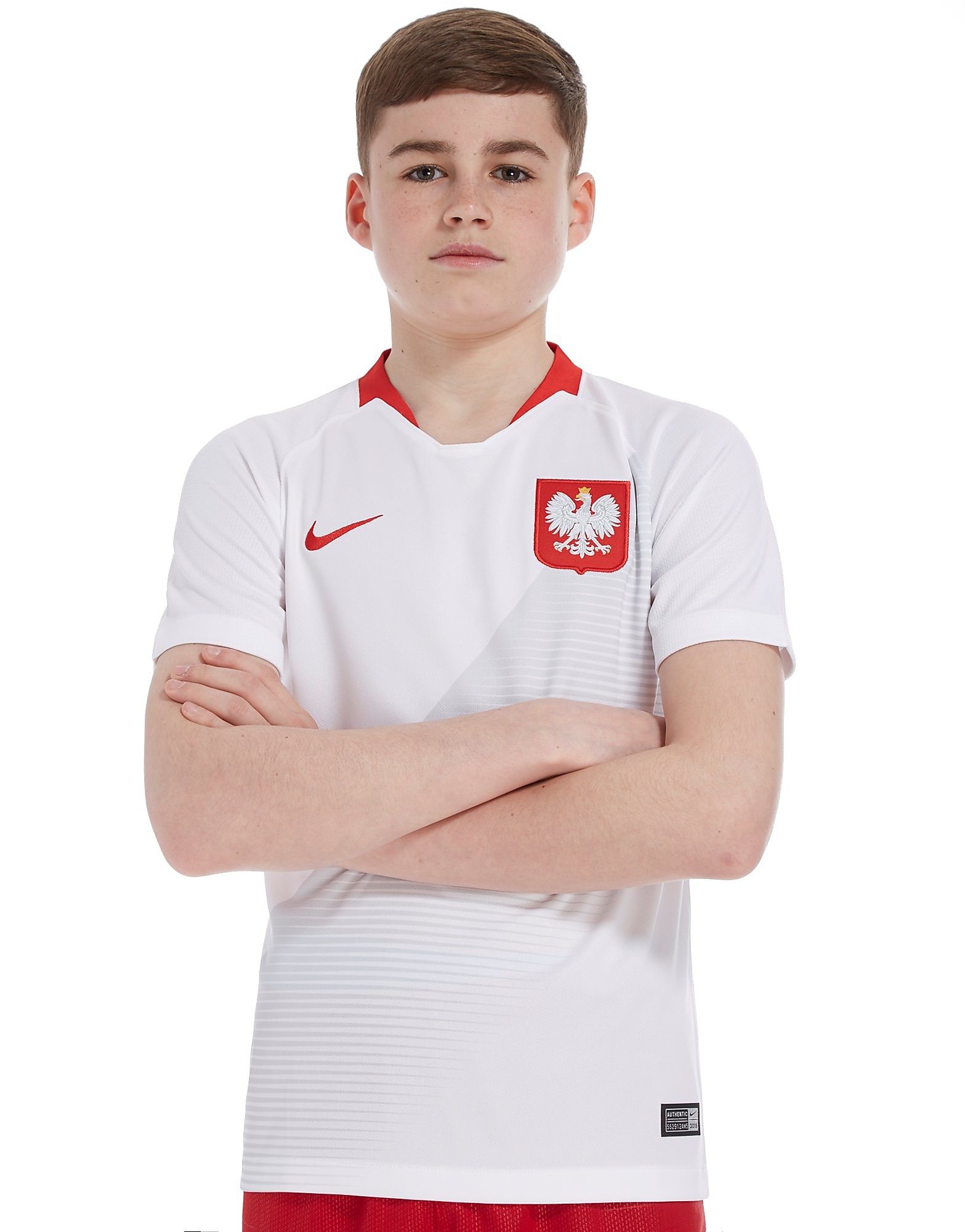Nike Poland 2018 Home Shirt Junior