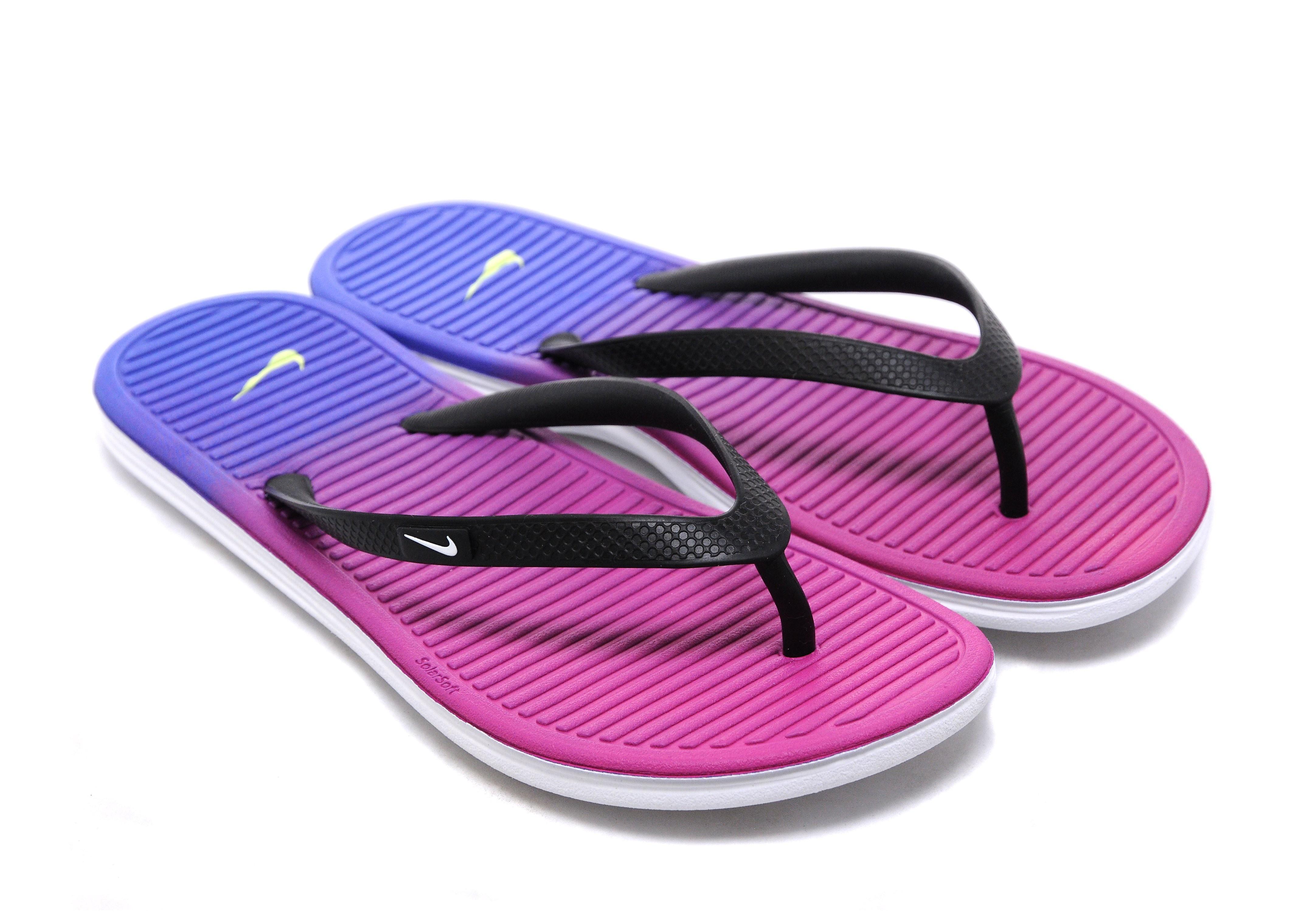 Nike Solarsoft Print Flip Flops Junior
