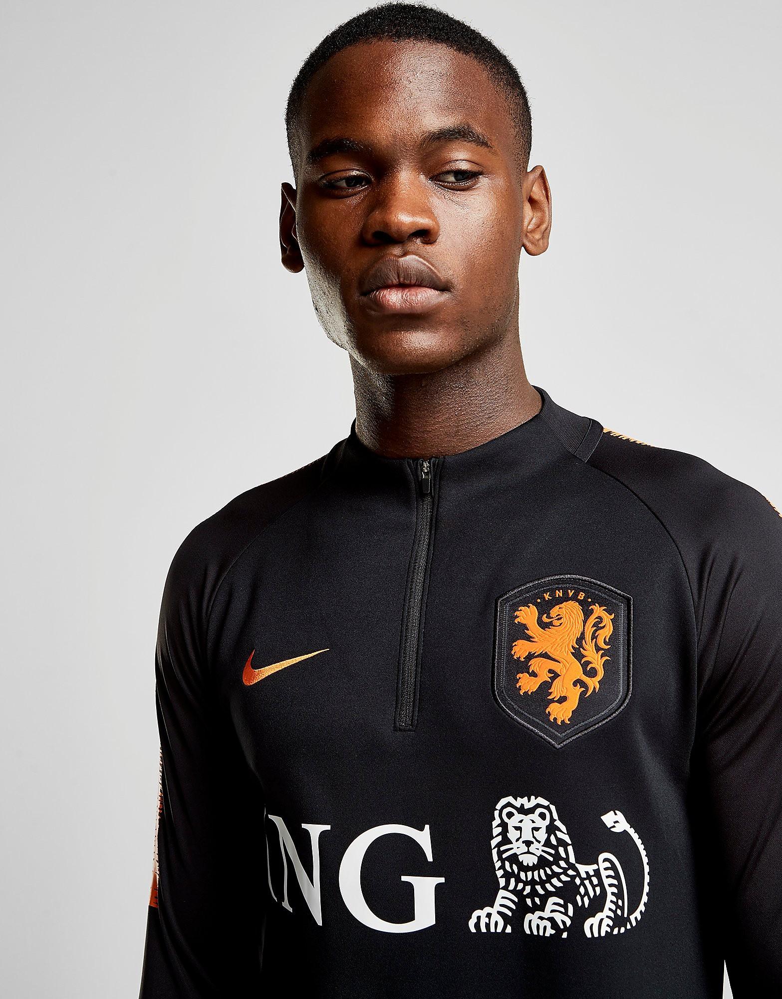Nike Holland Squad Drill Top Heren - Zwart - Heren