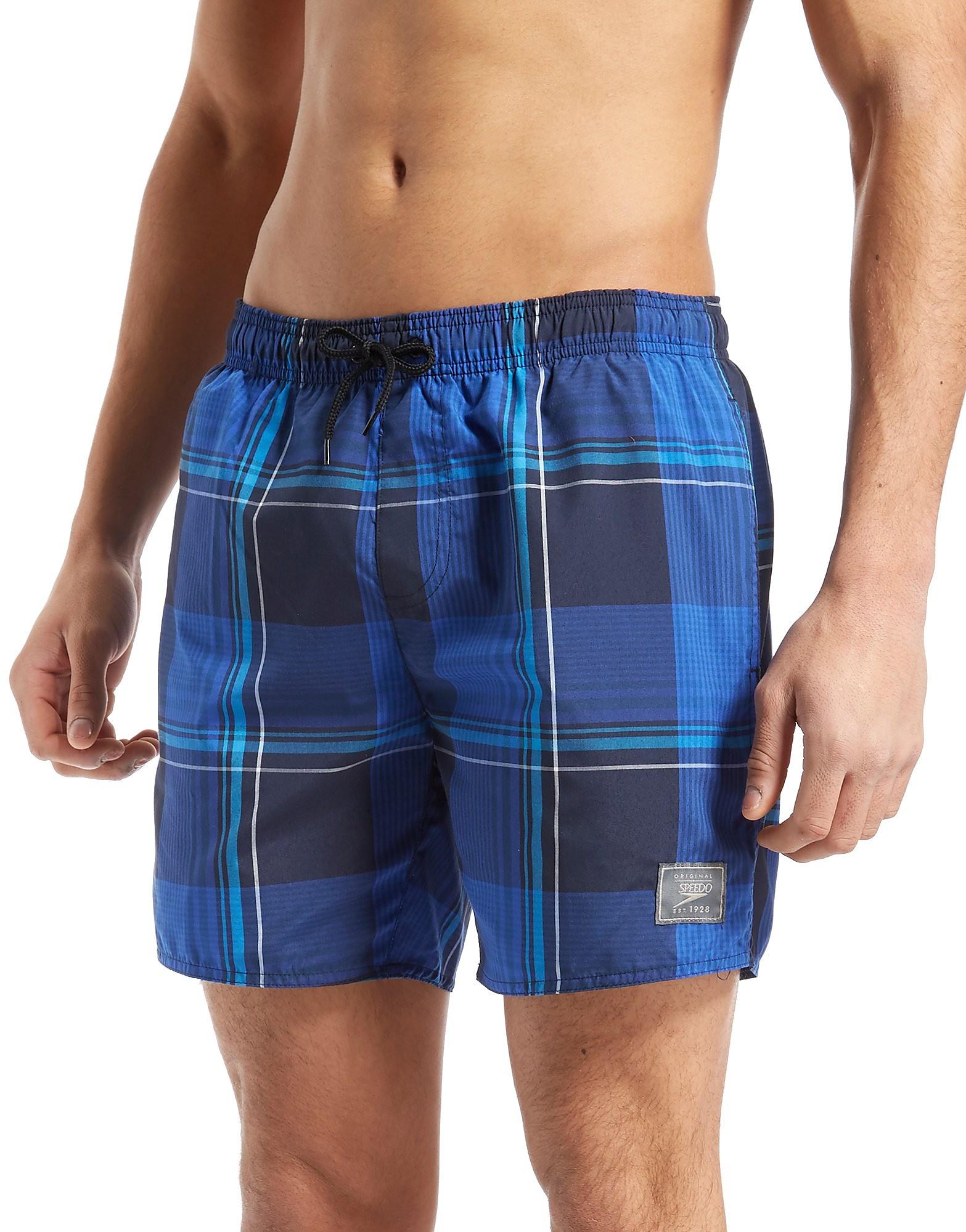 Speedo 16 Inch Check Swim Shorts