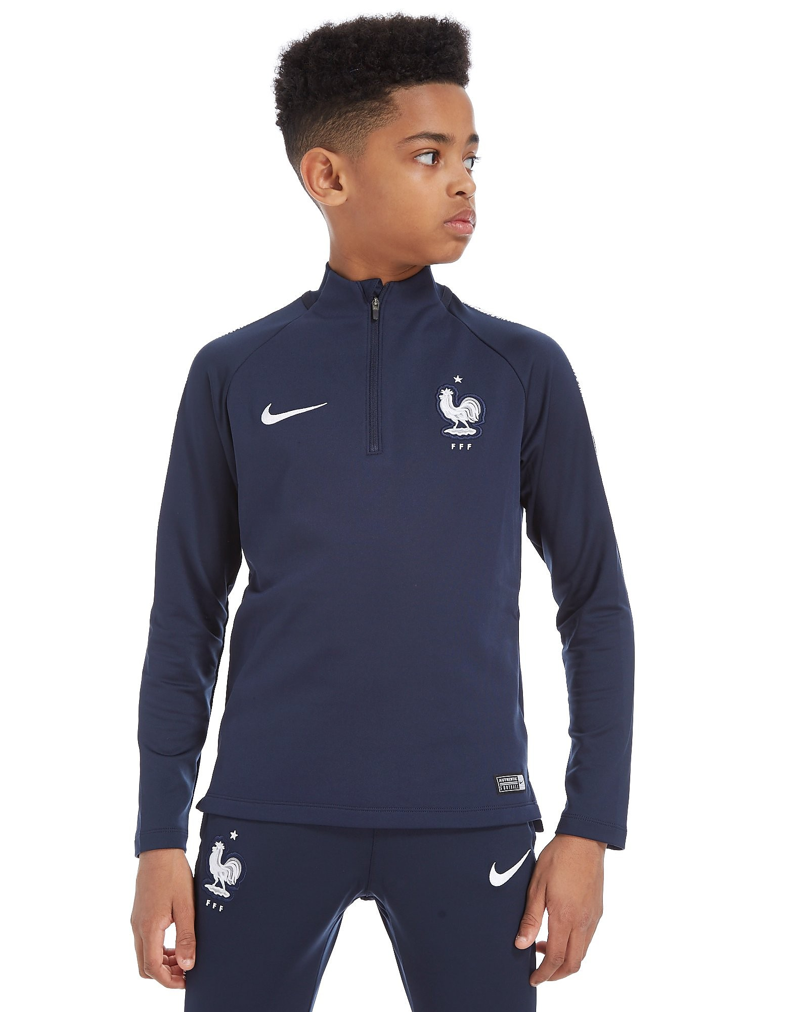 Nike France Squad Drill 1/4 Zip Top Junior