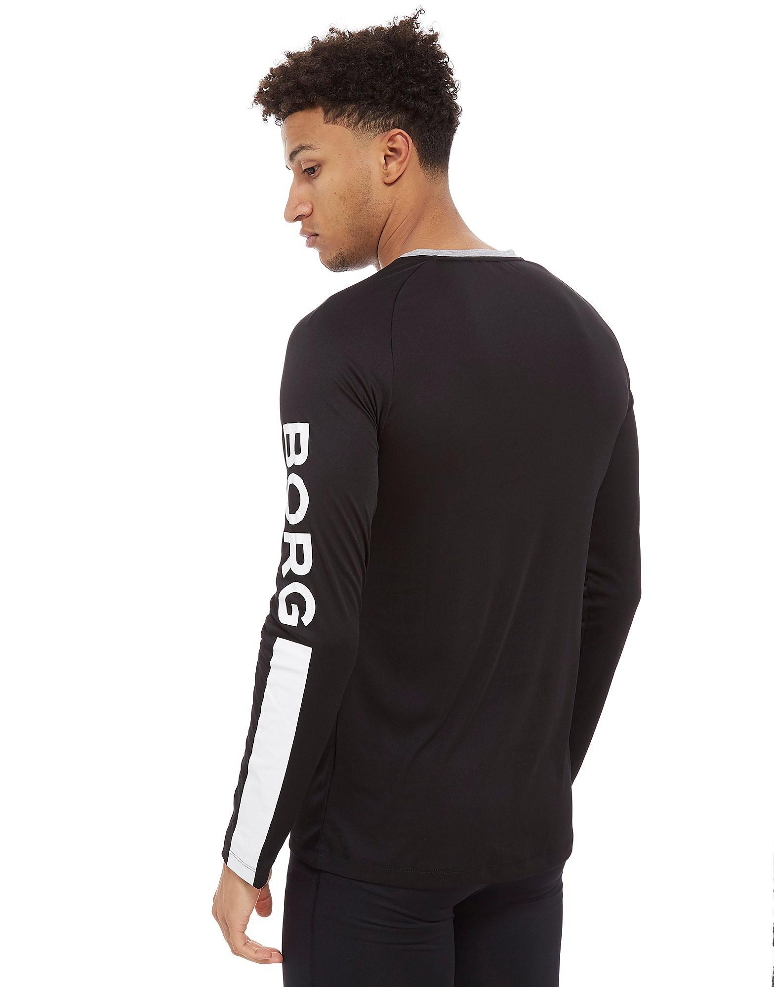 Bjorn Borg Long Sleeve Poly Tech Logo T-Shirt