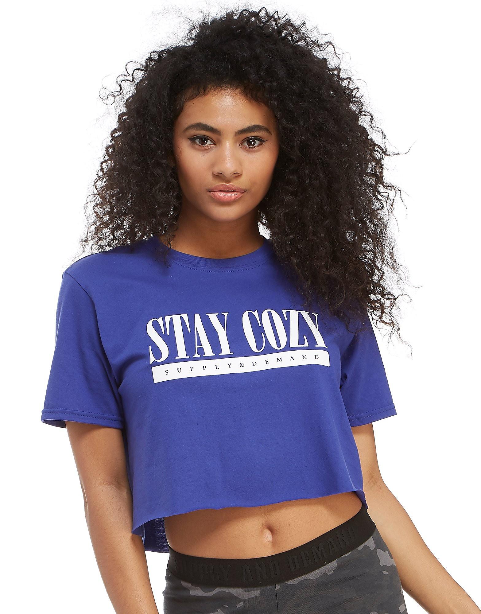 Supply & Demand camiseta Stay Cozy Crop Top
