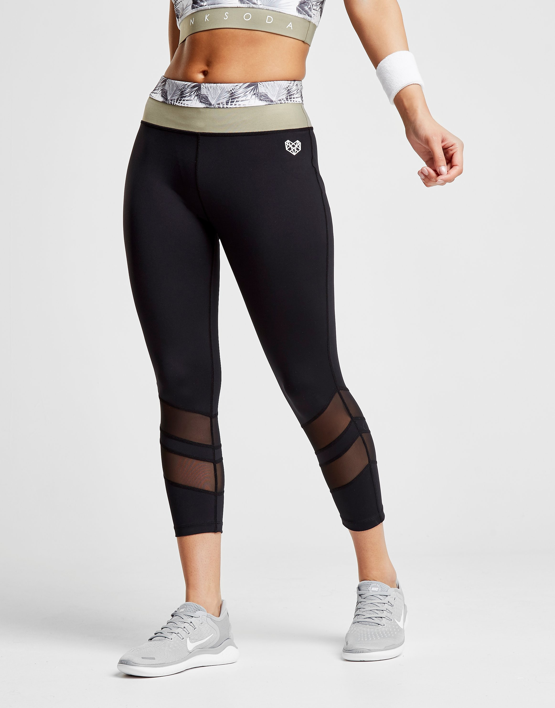 Pink Soda Sport Palm Panel Leggings Donna