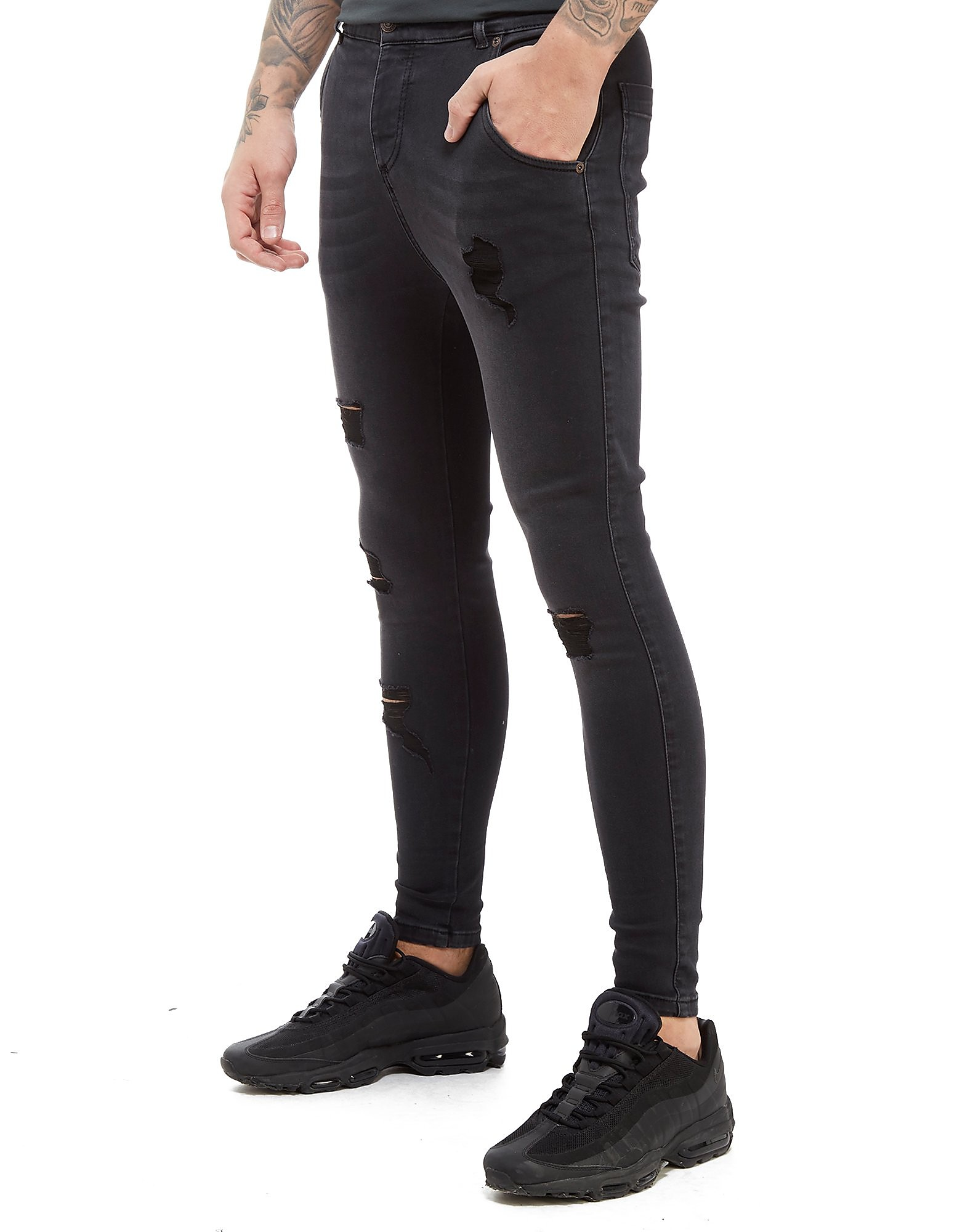 SikSilk Washed Ripped Jean