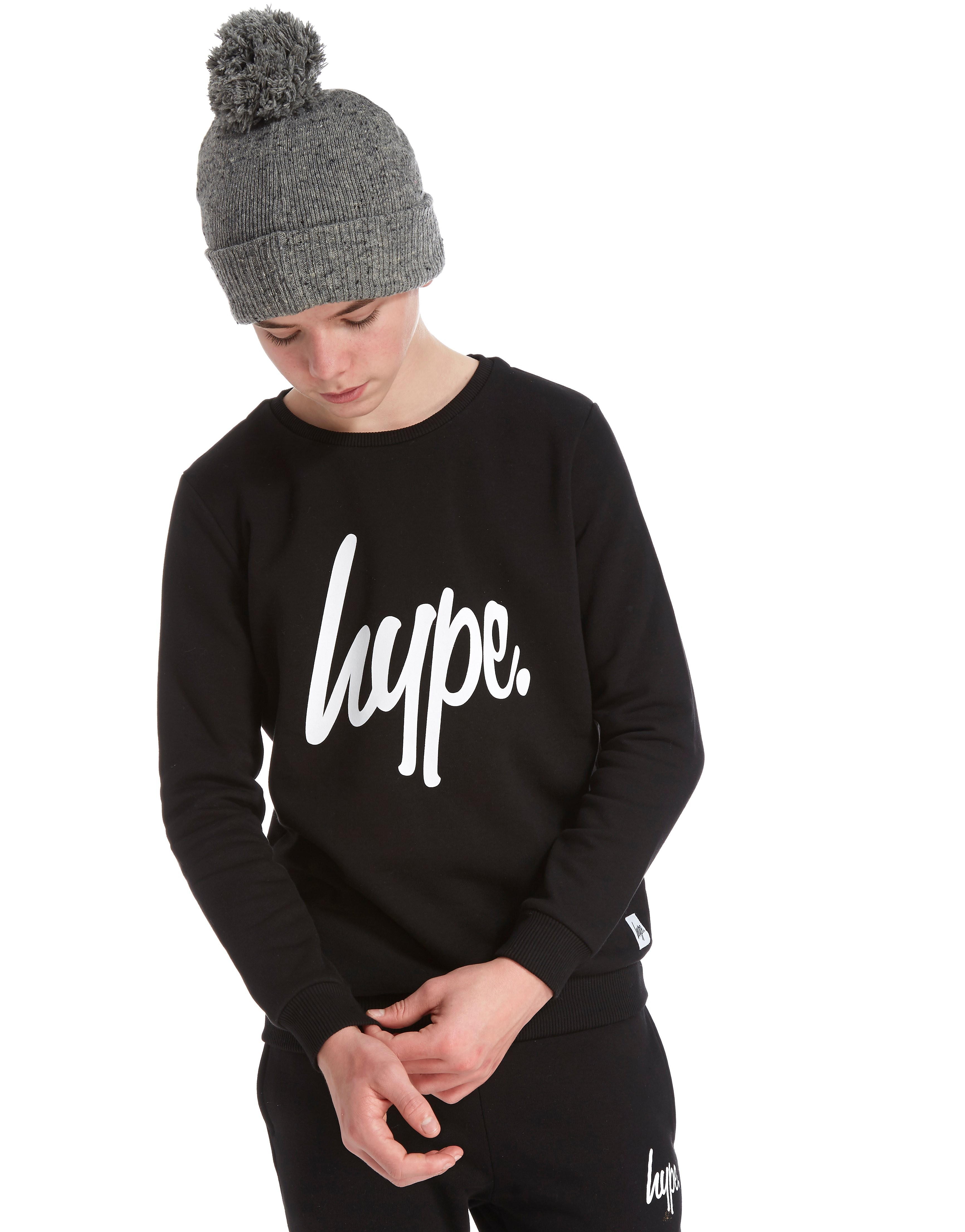 Hype Script Fleece Crew Sweatshirt Junior
