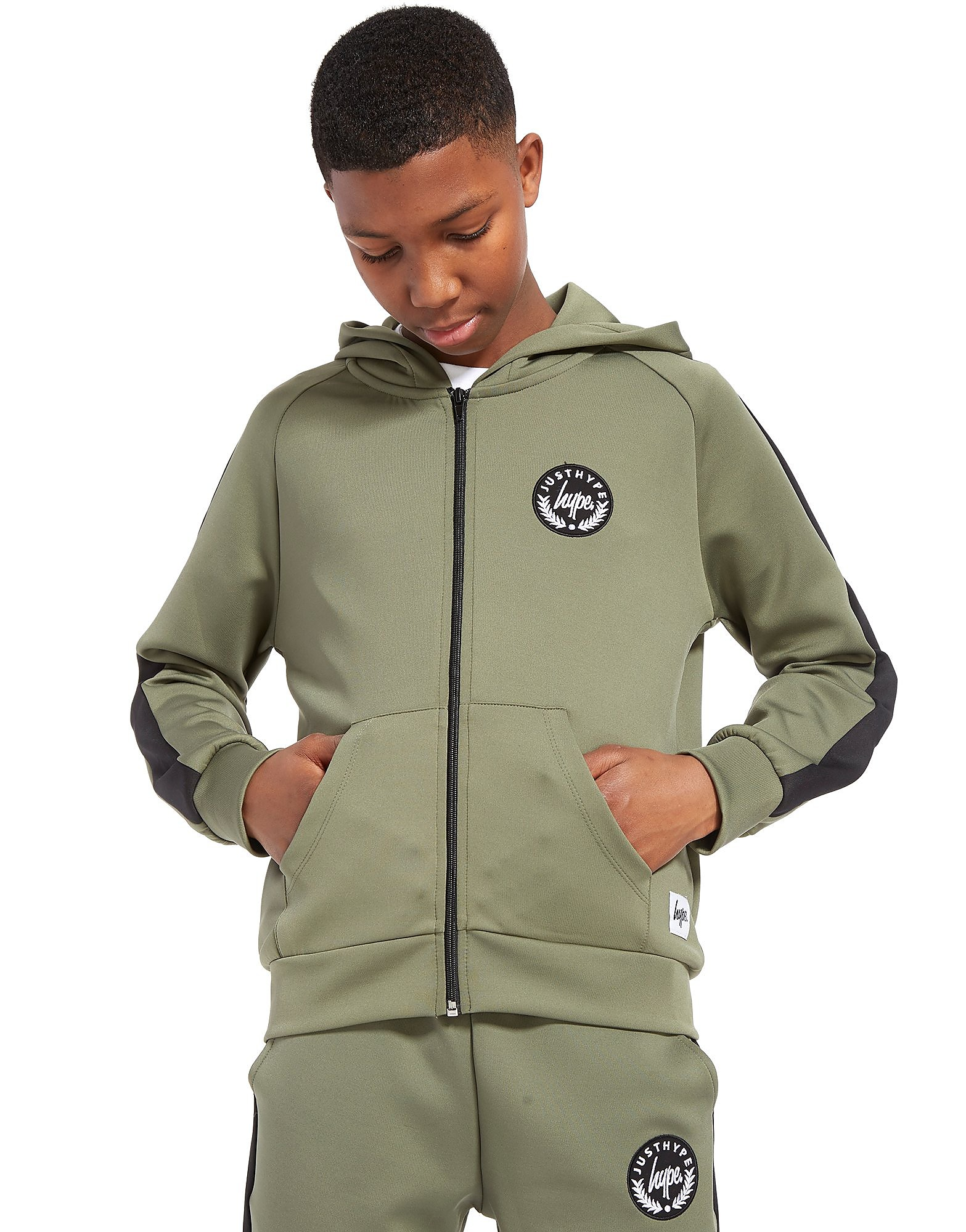 Hype Poly Full Zip Hoodie Junior