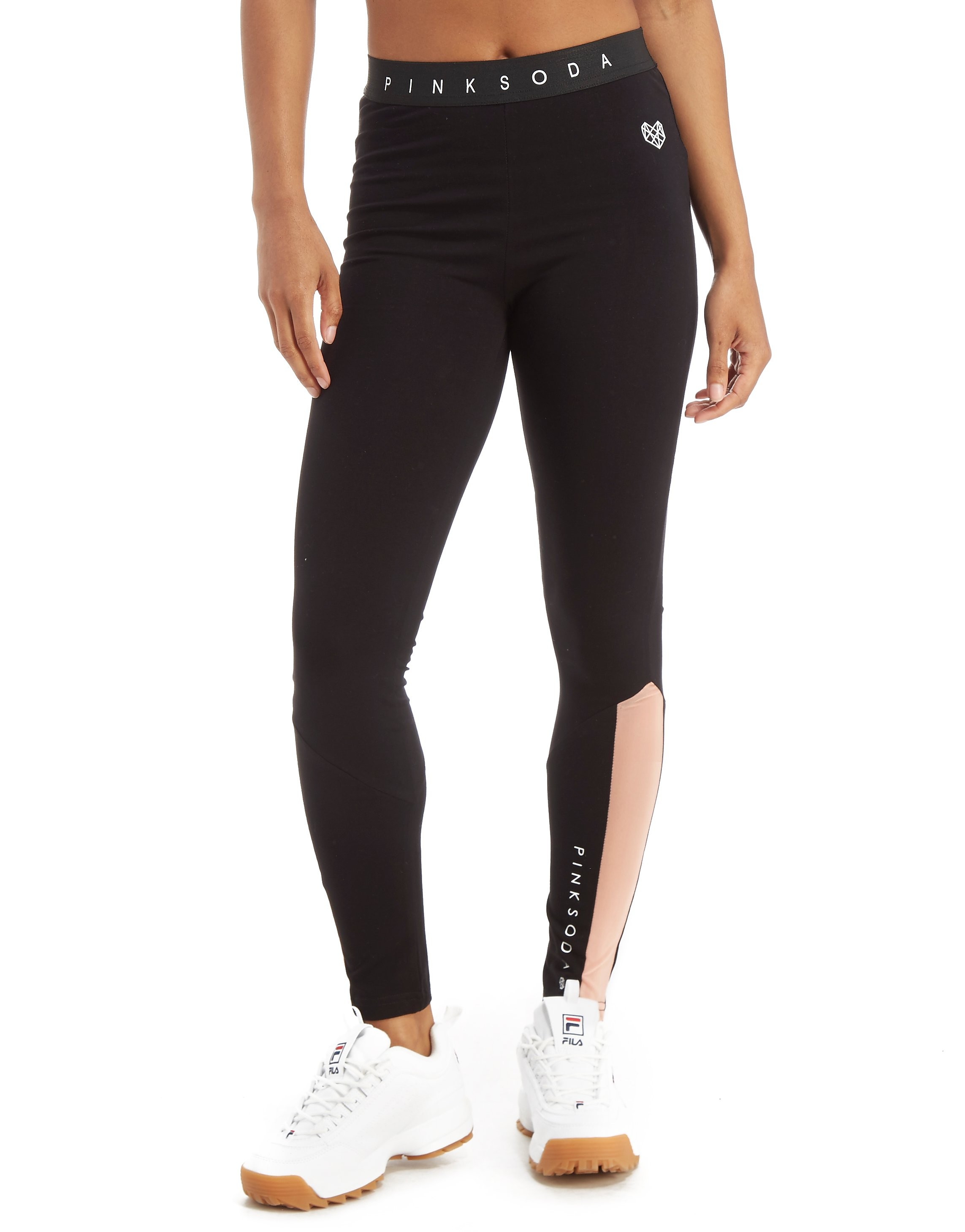 Pink Soda Sport Mesh Panel Leggings