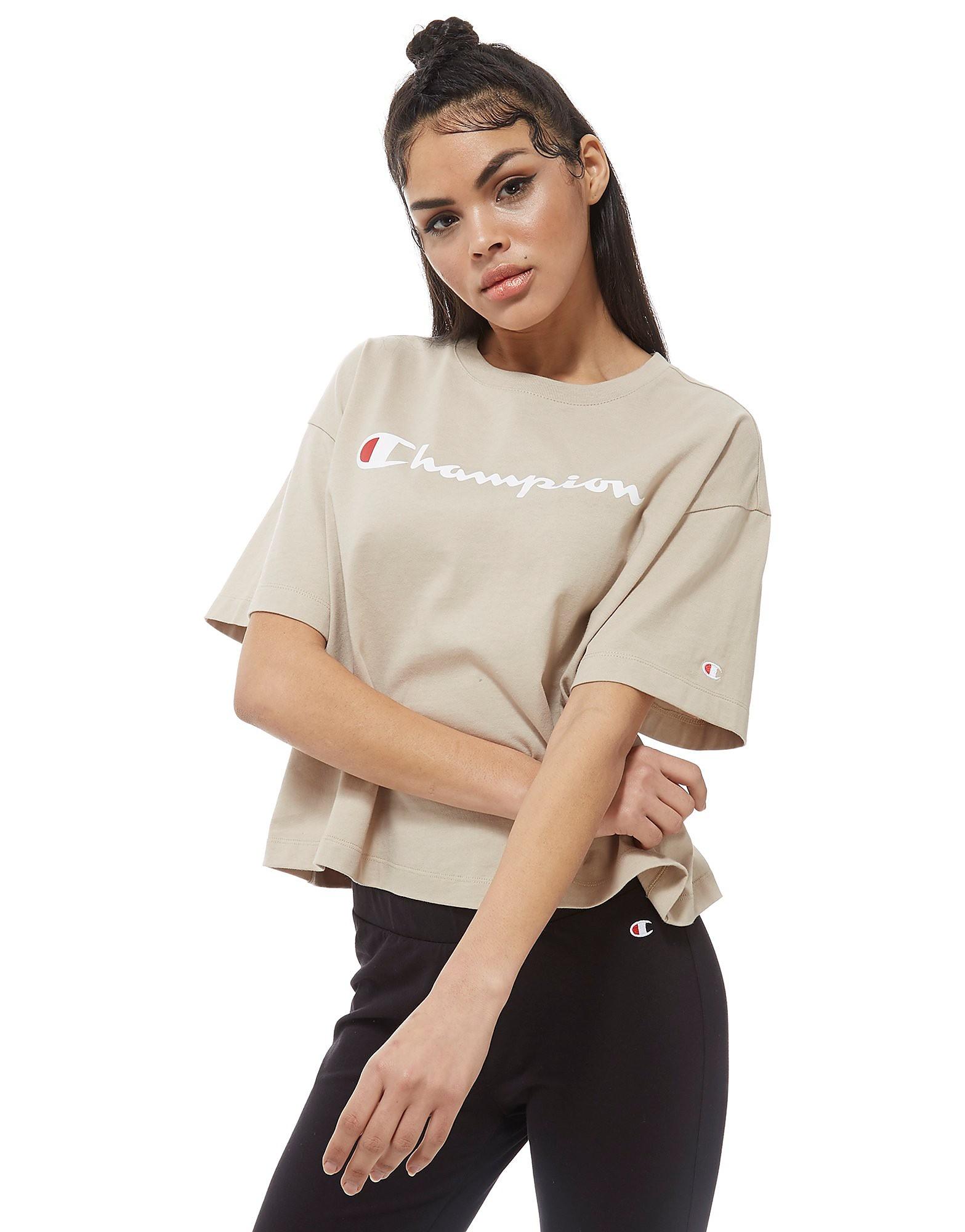Champion Script Boxy T-Shirt Femme