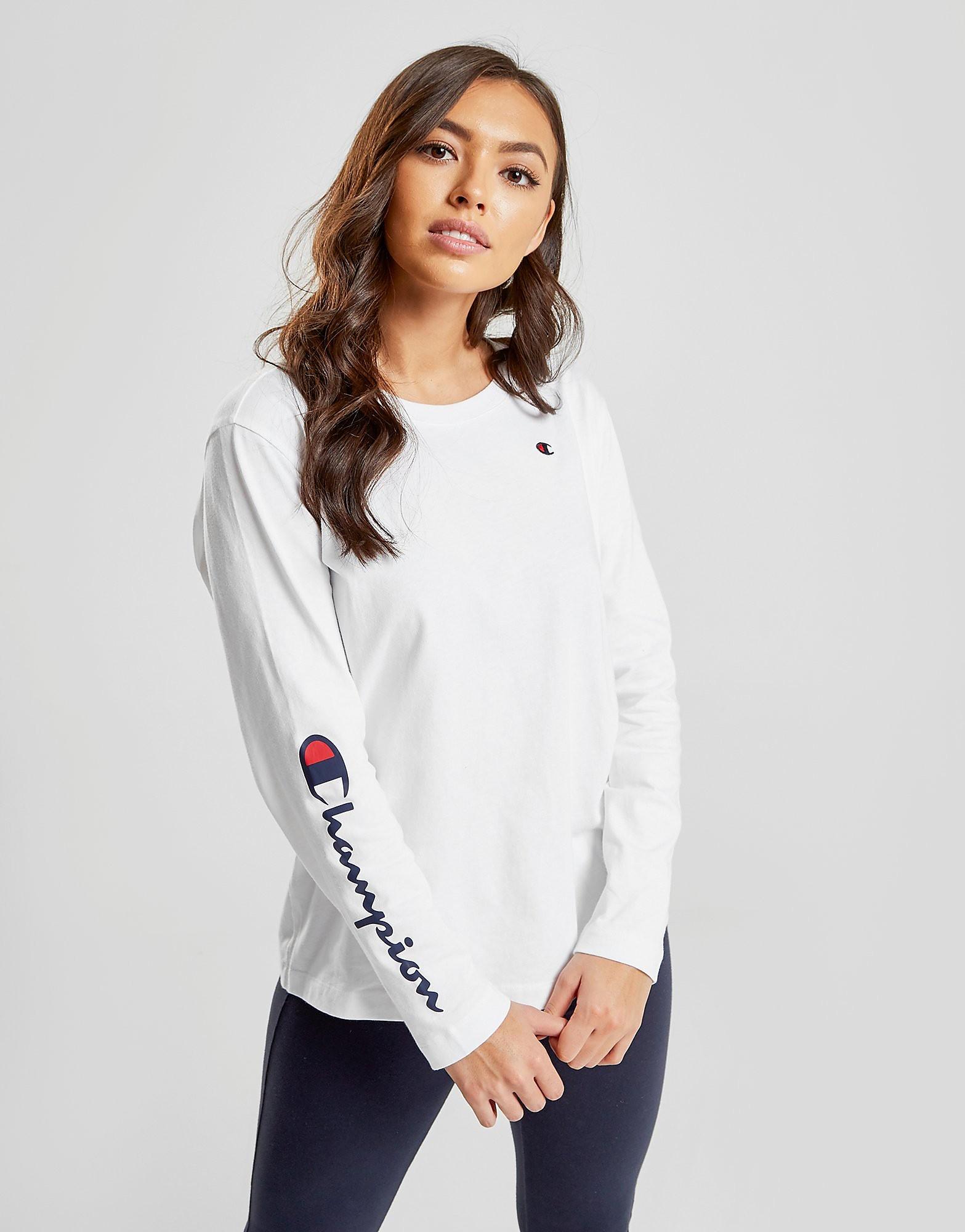 Champion Script Sleeve Long Sleeve T-Shirt Dames - Wit - Dames