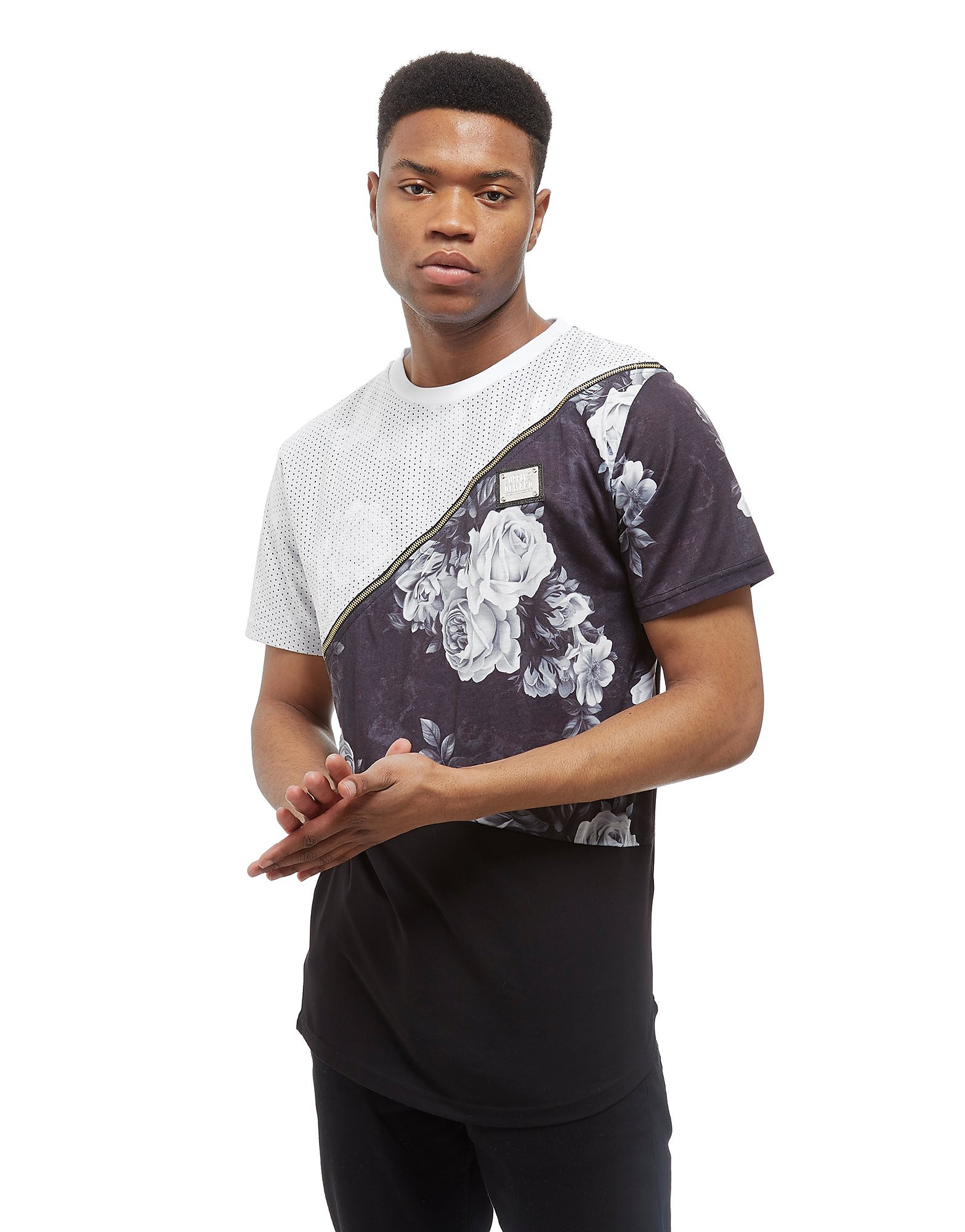 Supply & Demand Bouquet Split T-Shirt - Wit - Heren