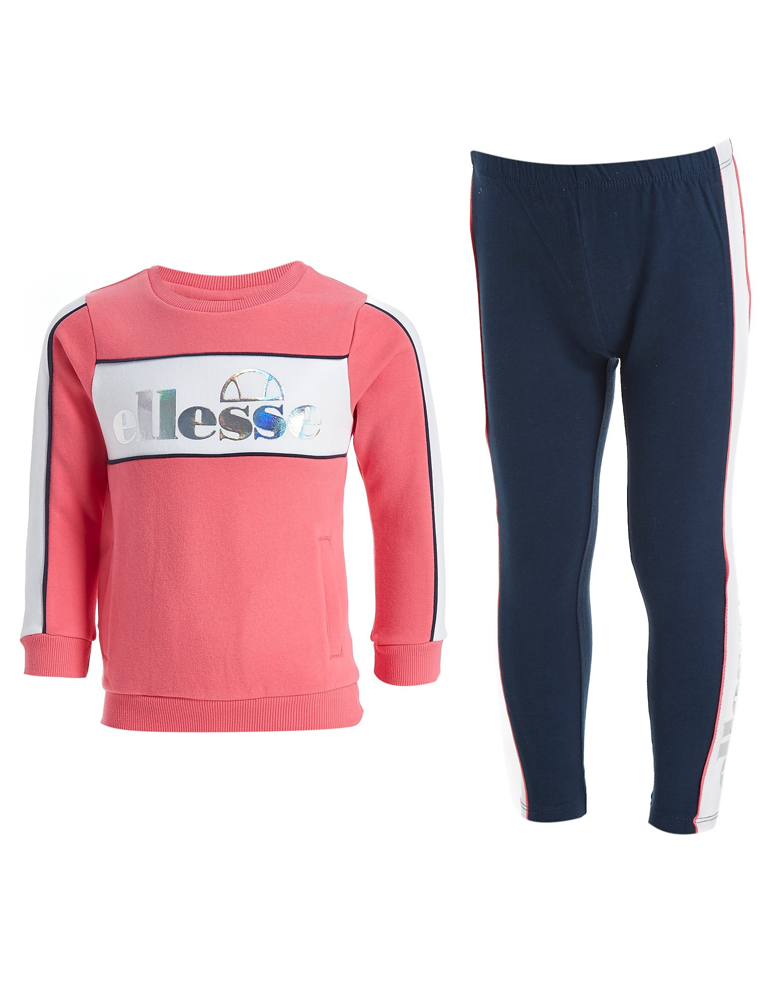 Ellesse Ensemble Girls' Elvria Crew/Legging Enfant