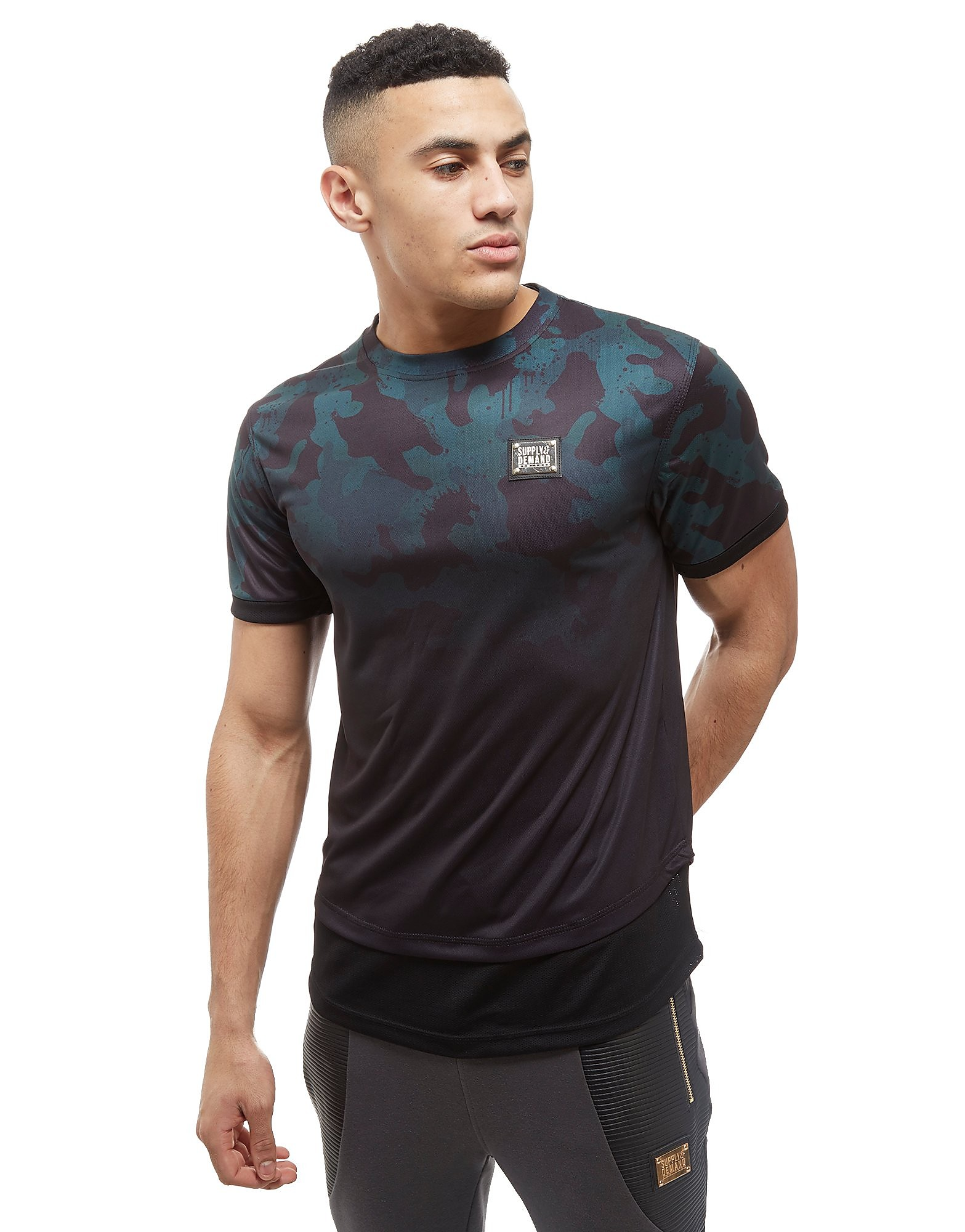 Supply & Demand Teal Fade Camo T-Shirt - Only at JD, Teal/Purple