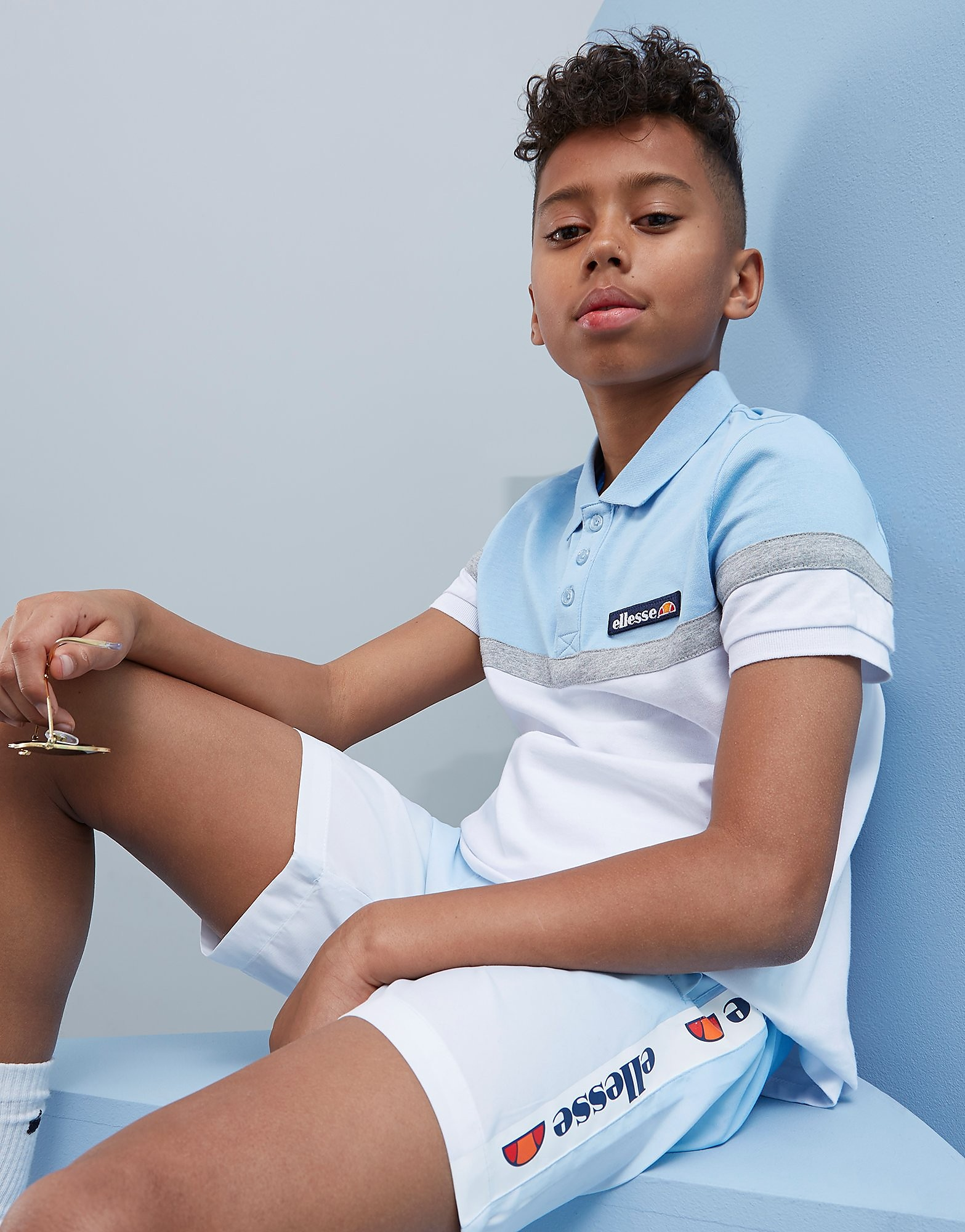 Ellesse Brandino Colour Block Polo Junior