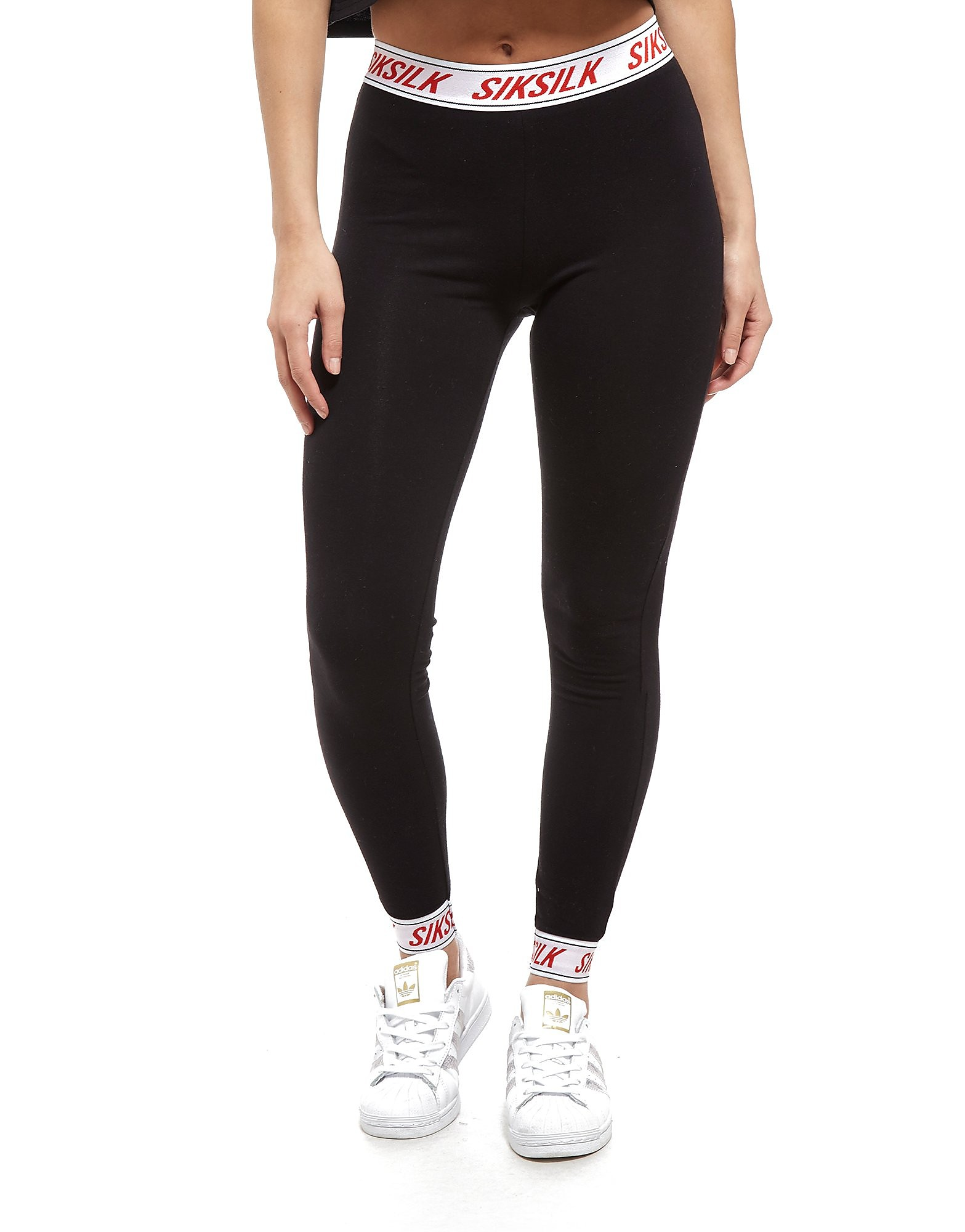 SikSilk Tape Waist Leggings Dames - Zwart - Dames