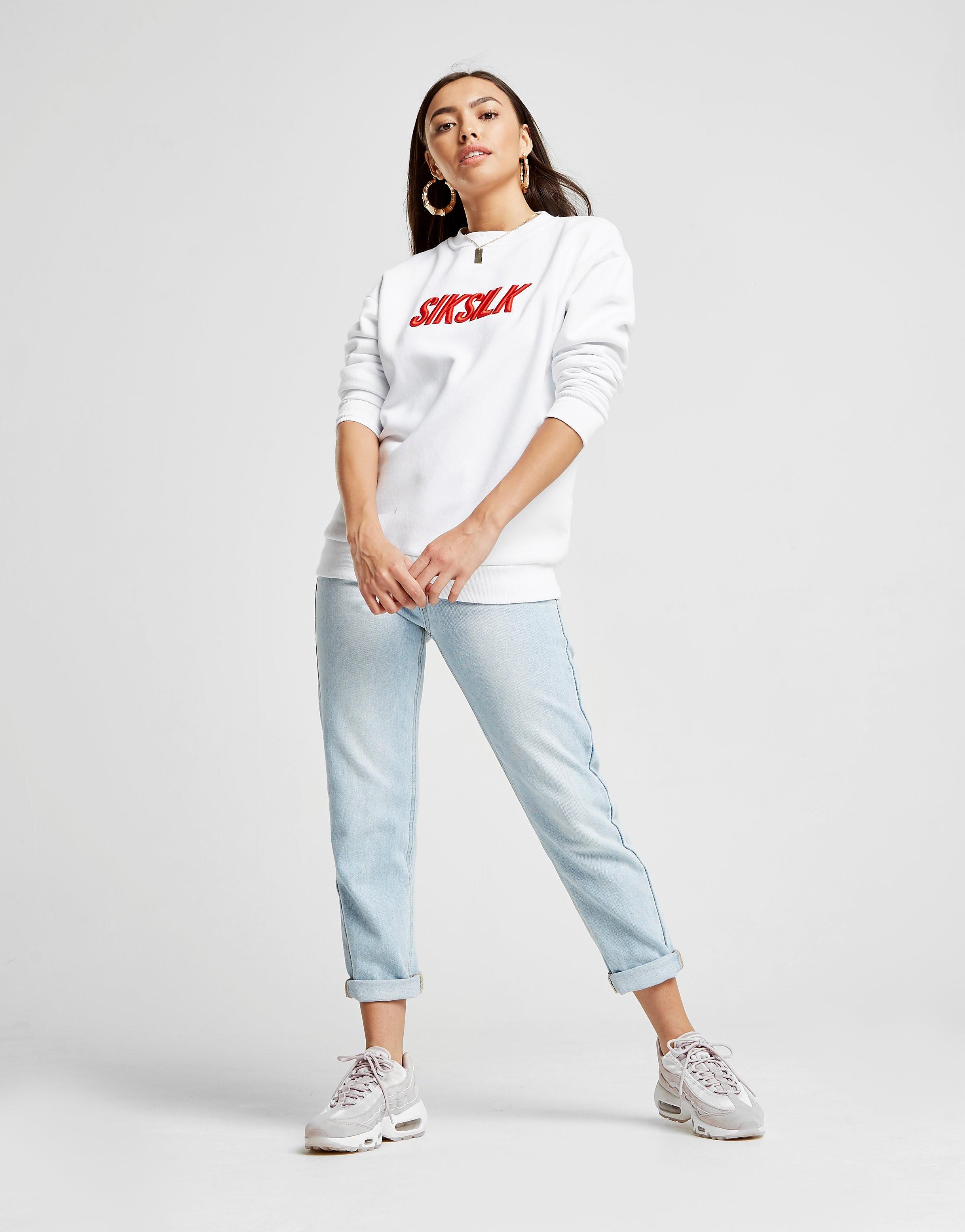 SikSilk Logo Crew Sweatshirt Femme