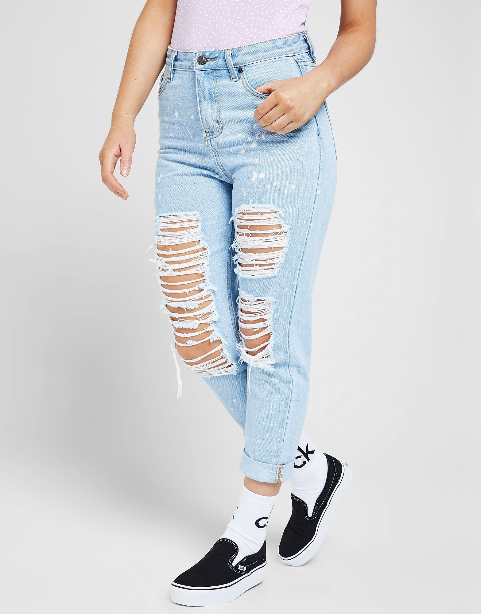 SikSilk Rip Jeans Skinny High Waisted