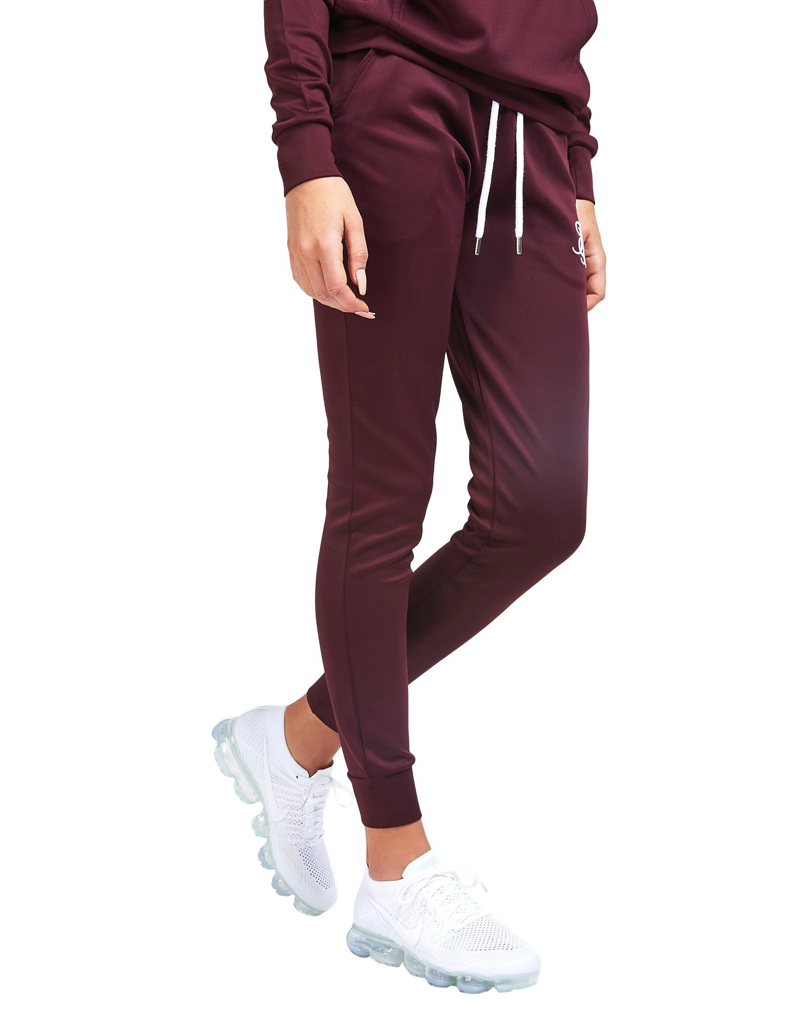 SikSilk Poly Pants Dames - Burgundy/White - Dames