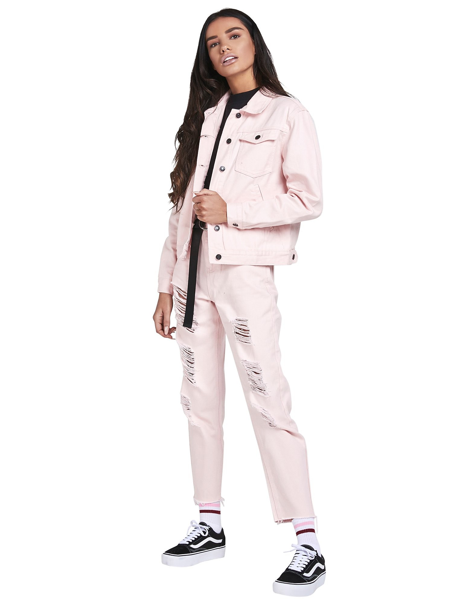SikSilk Denim Jacket Dames - Light Pink - Dames