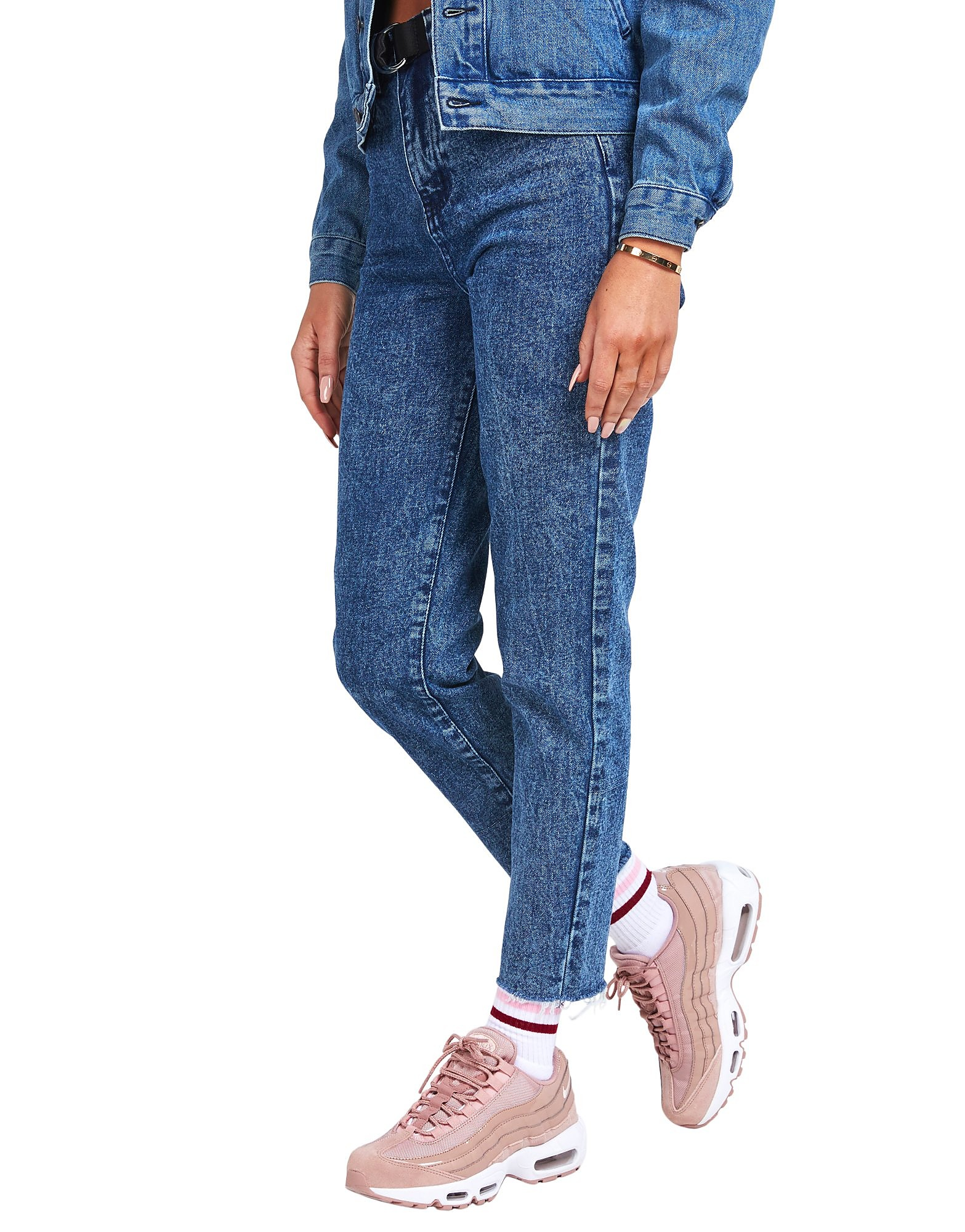 SikSilk Acid Wash Mom Jeans