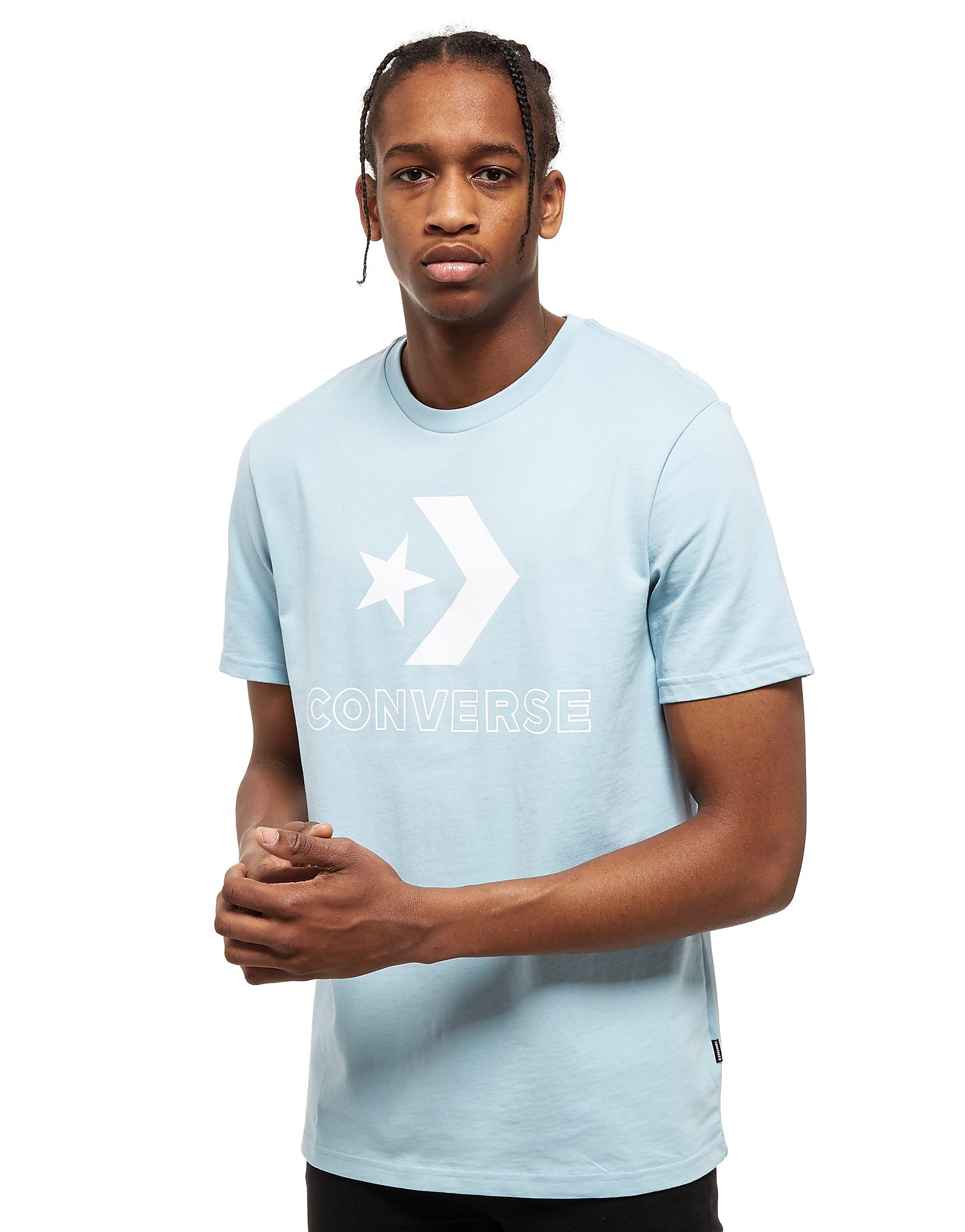 Converse Big Star Chevron T-Shirt Blau-Weiß