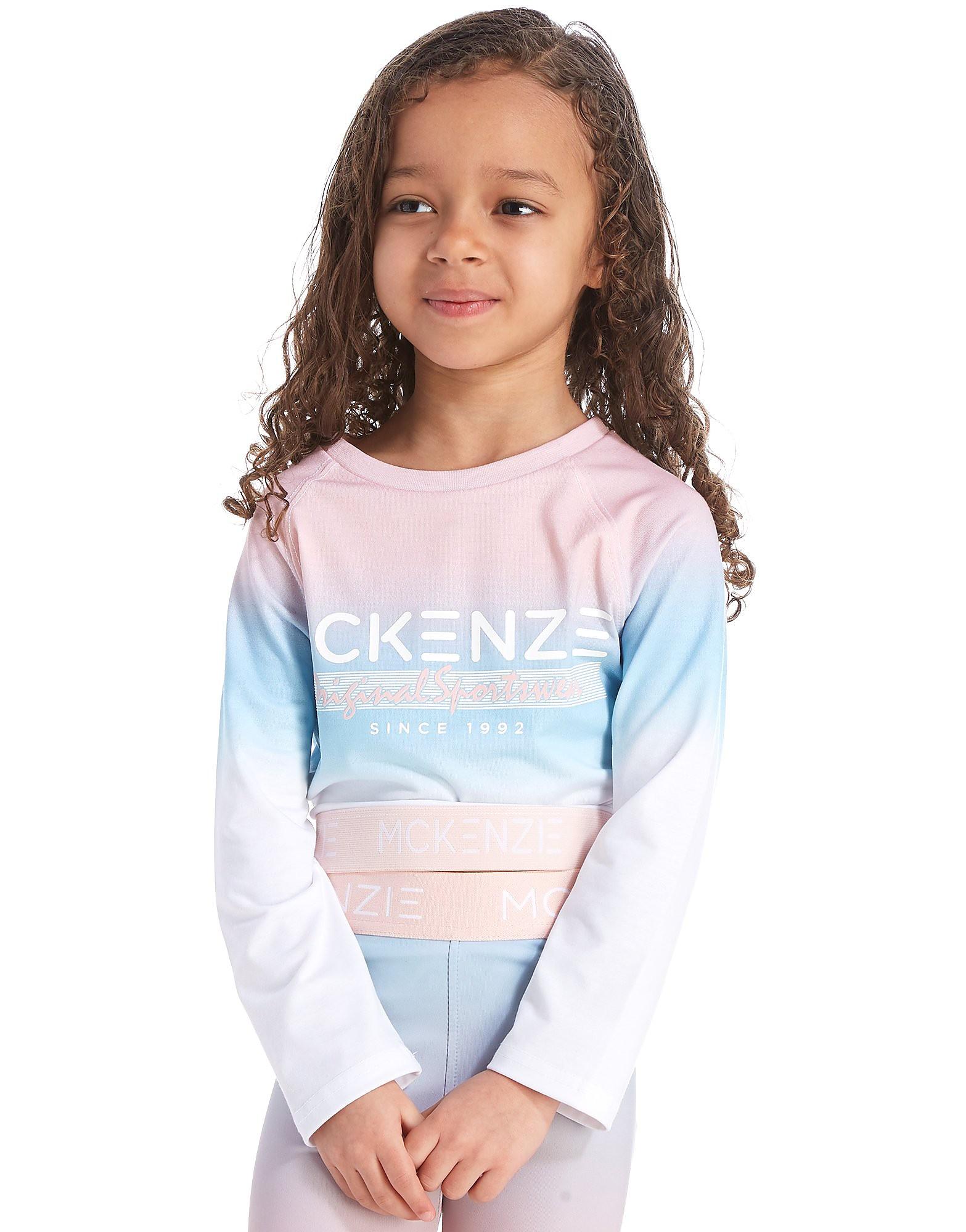 McKenzie Girls' Luna Long Sleeve Crop T-Shirt Enfant - rose/bleu, rose/bleu