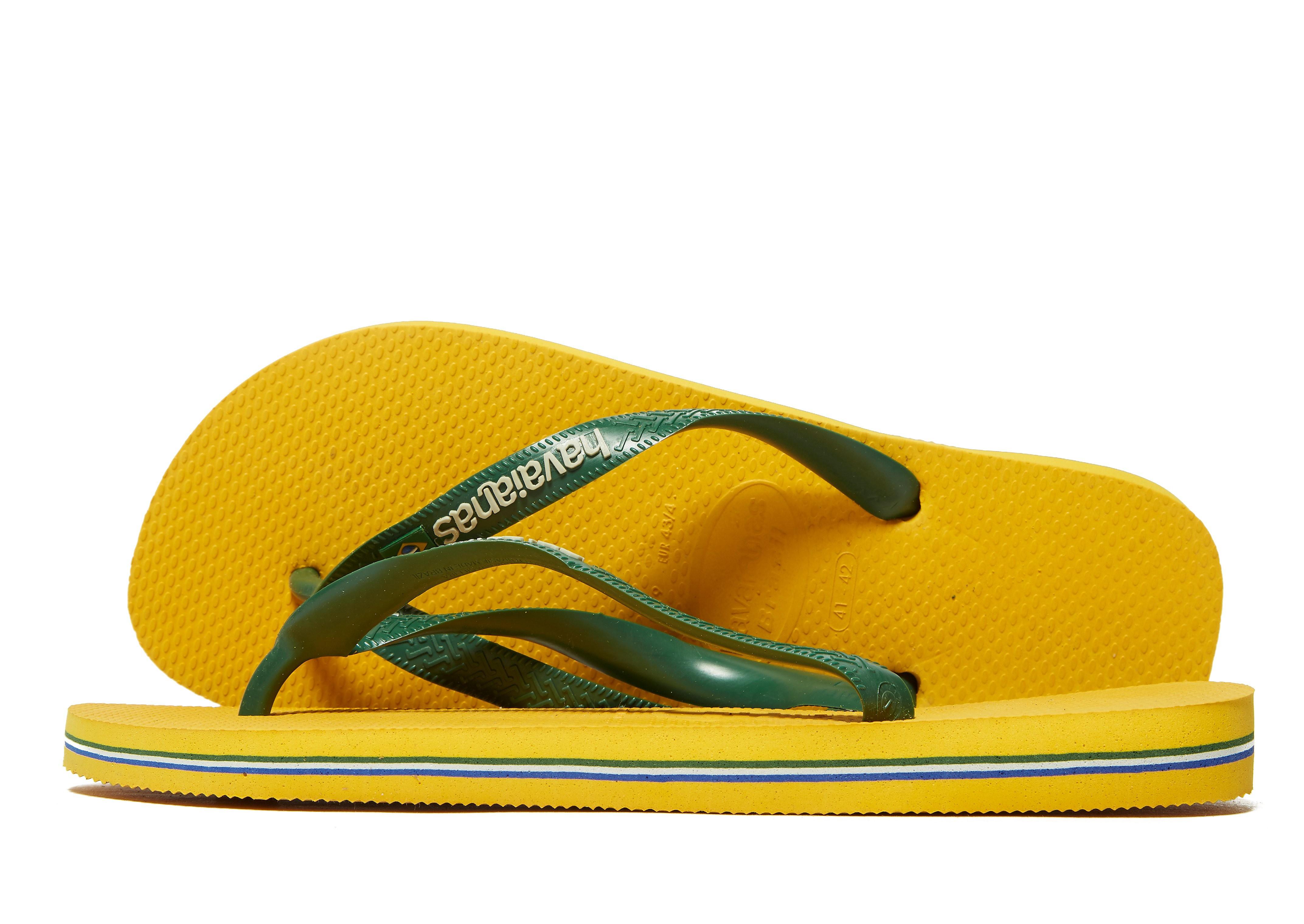 Havaianas Brazil Logo Flip Flops - Geel - Heren