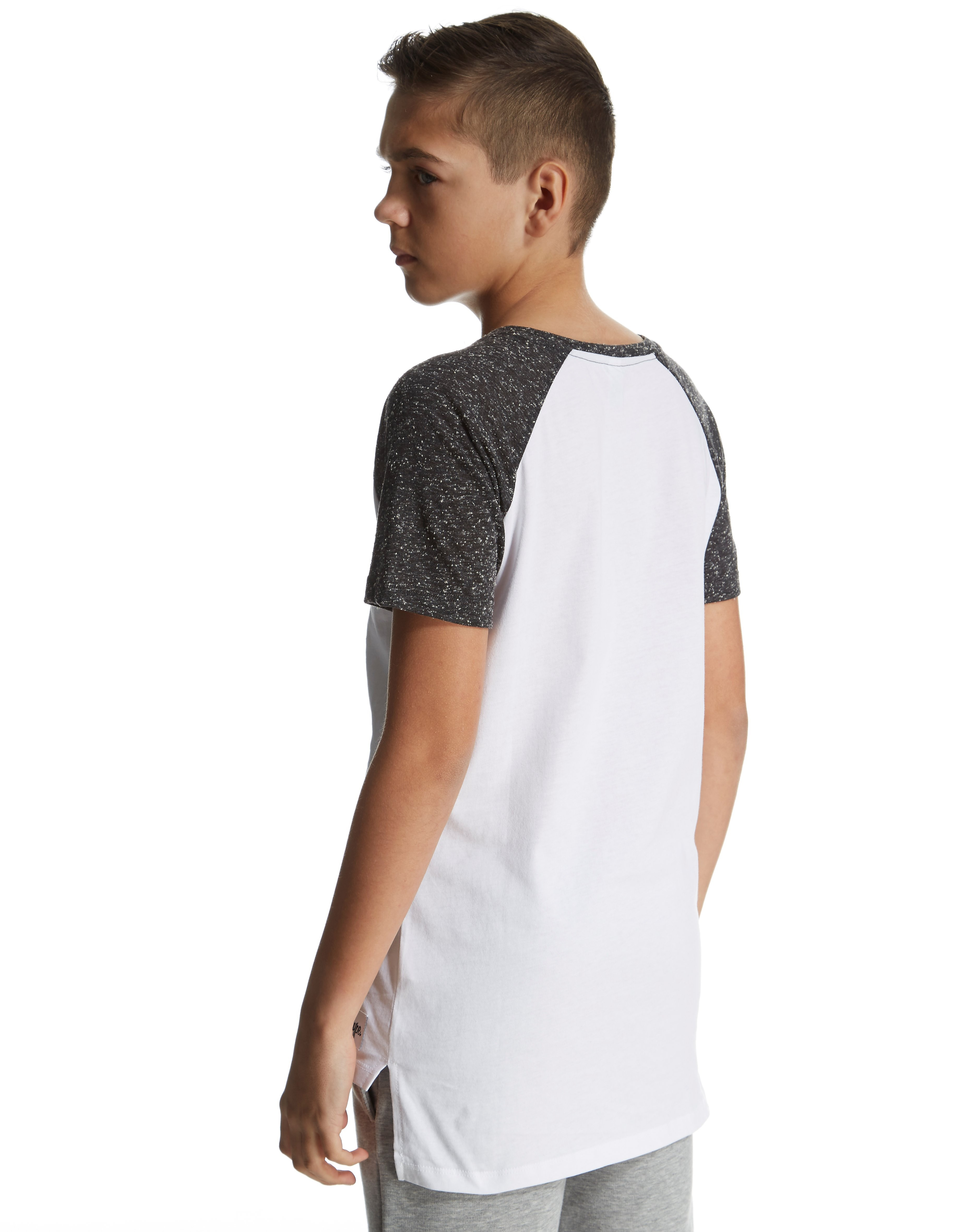 Hype Raglan Longline T-Shirt Junior