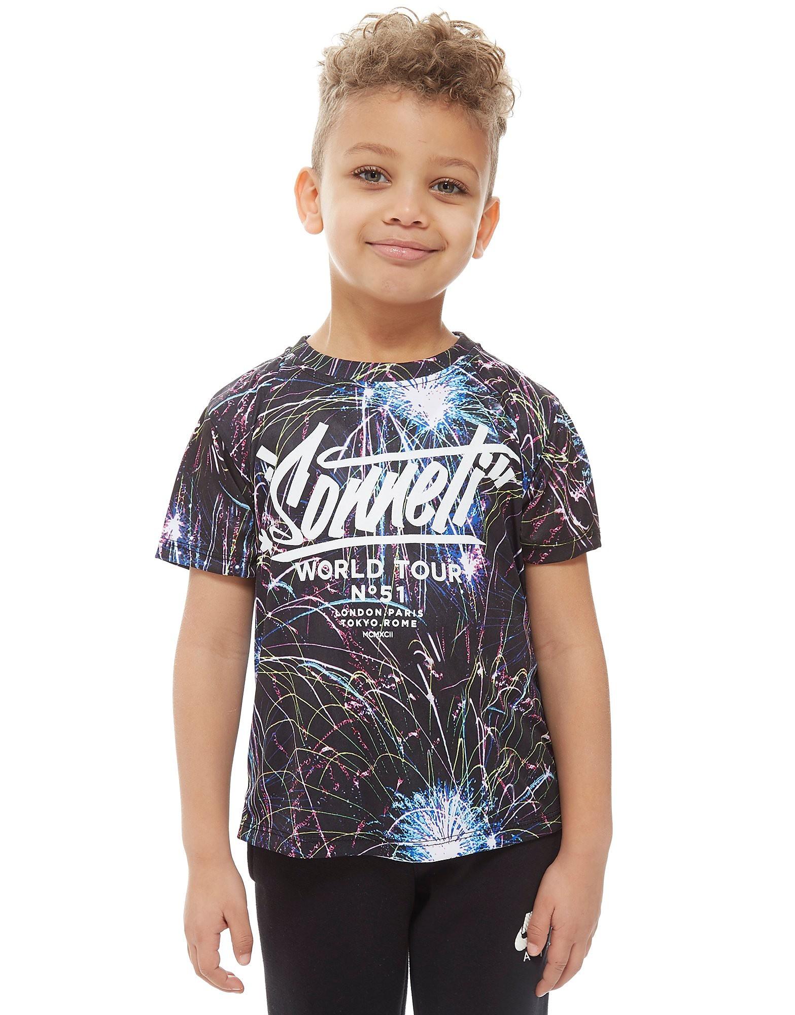Sonneti Post 2 T-Shirt Enfant - noir/multicolor, noir/multicolor