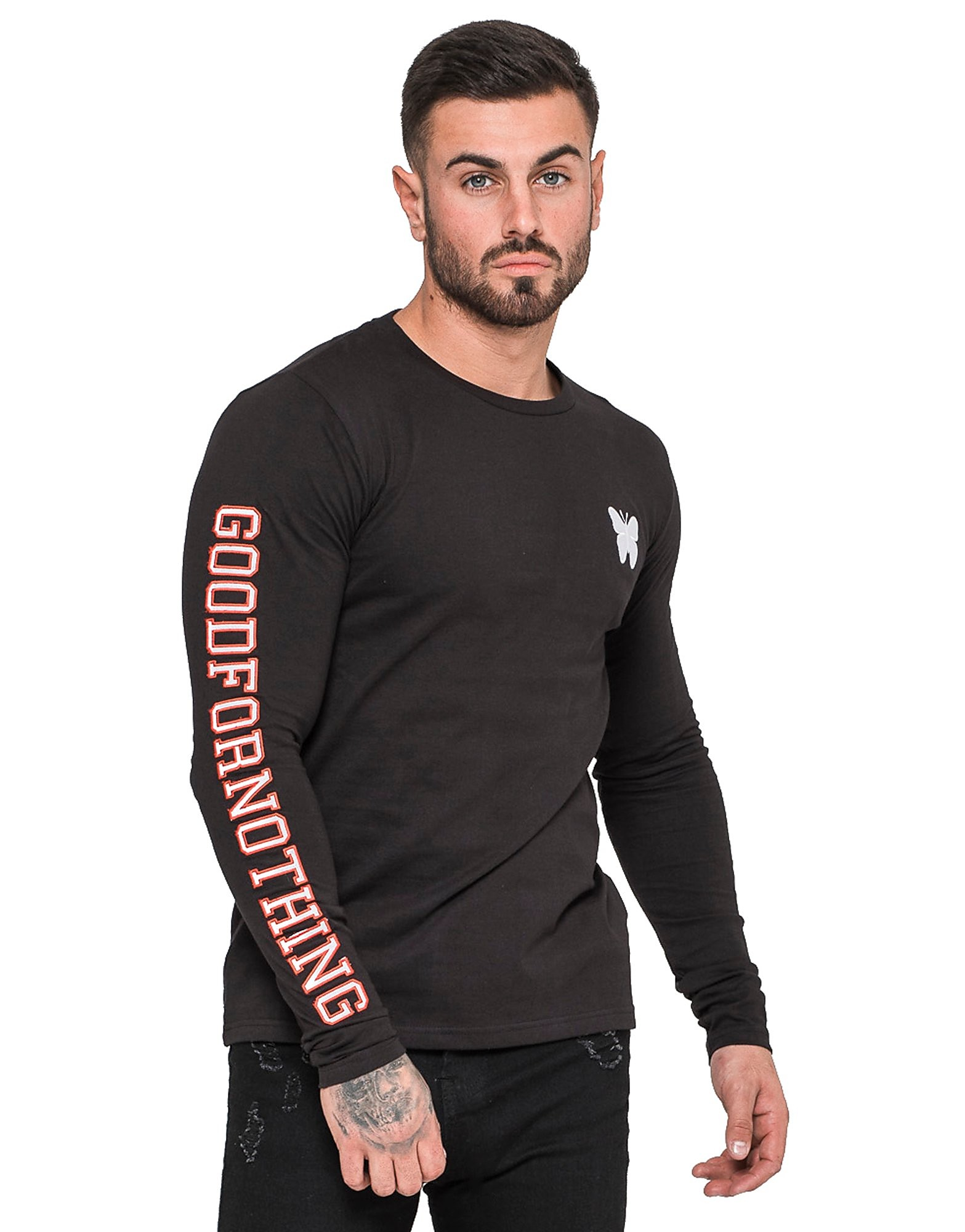 Good For Nothing Long Sleeve Embroidered Top