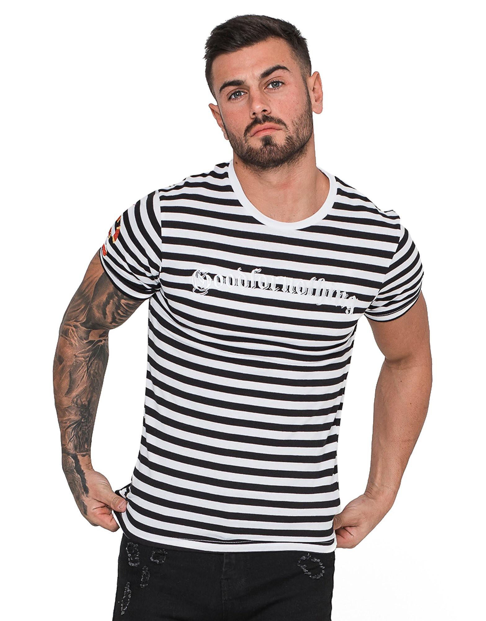 Good For Nothing Stripe Snake T-Shirt