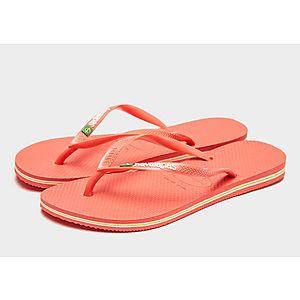86d9fef20804a8 Havaianas Slim Brasil Flip Flops Women s Havaianas Slim Brasil Flip Flops  Women s