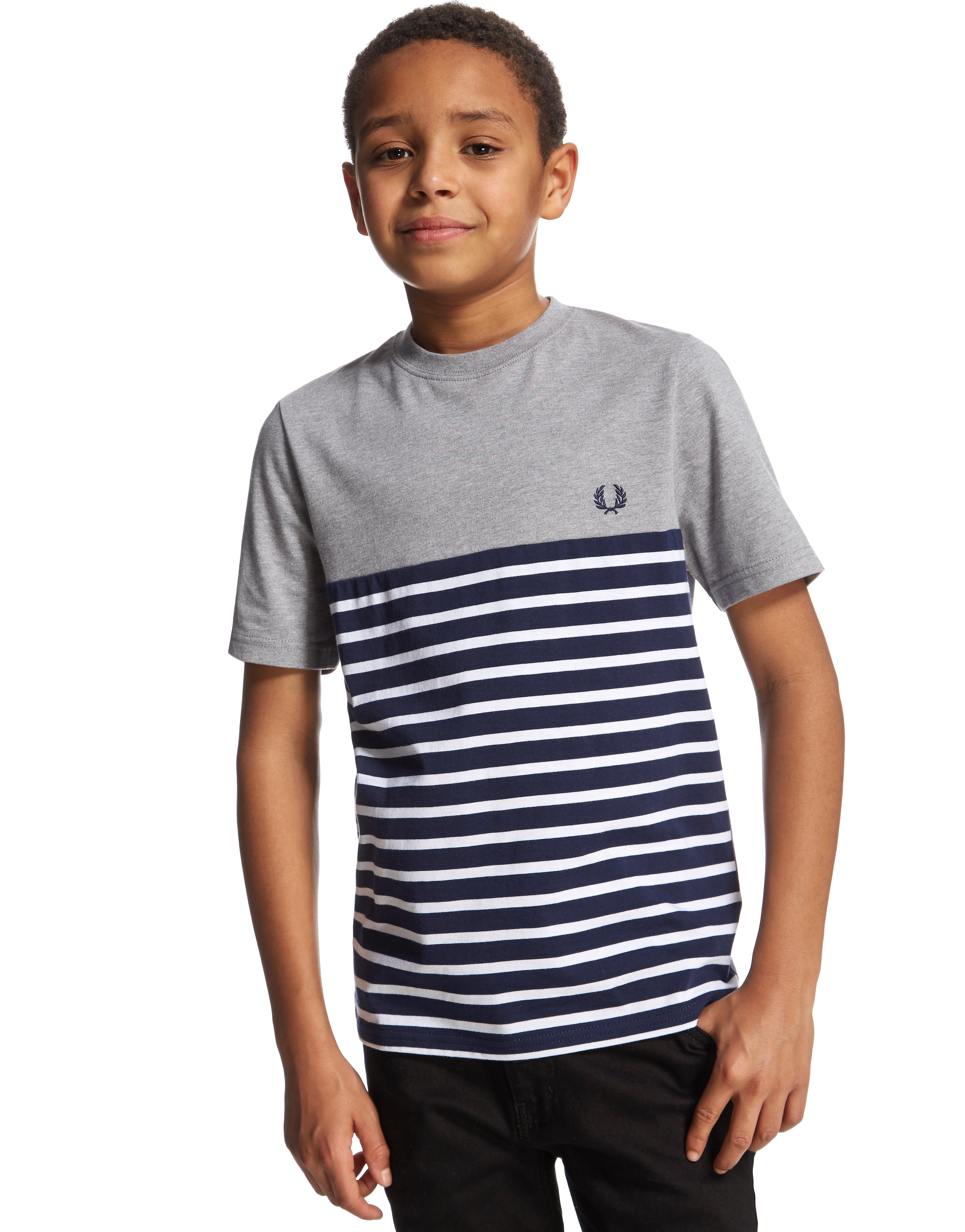 Fred Perry Cut & Sew Stripe T-Shirt Junior