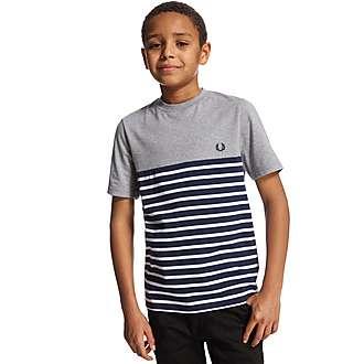 Fred Perry Cut & Sew Stripe T-Shirt Junior