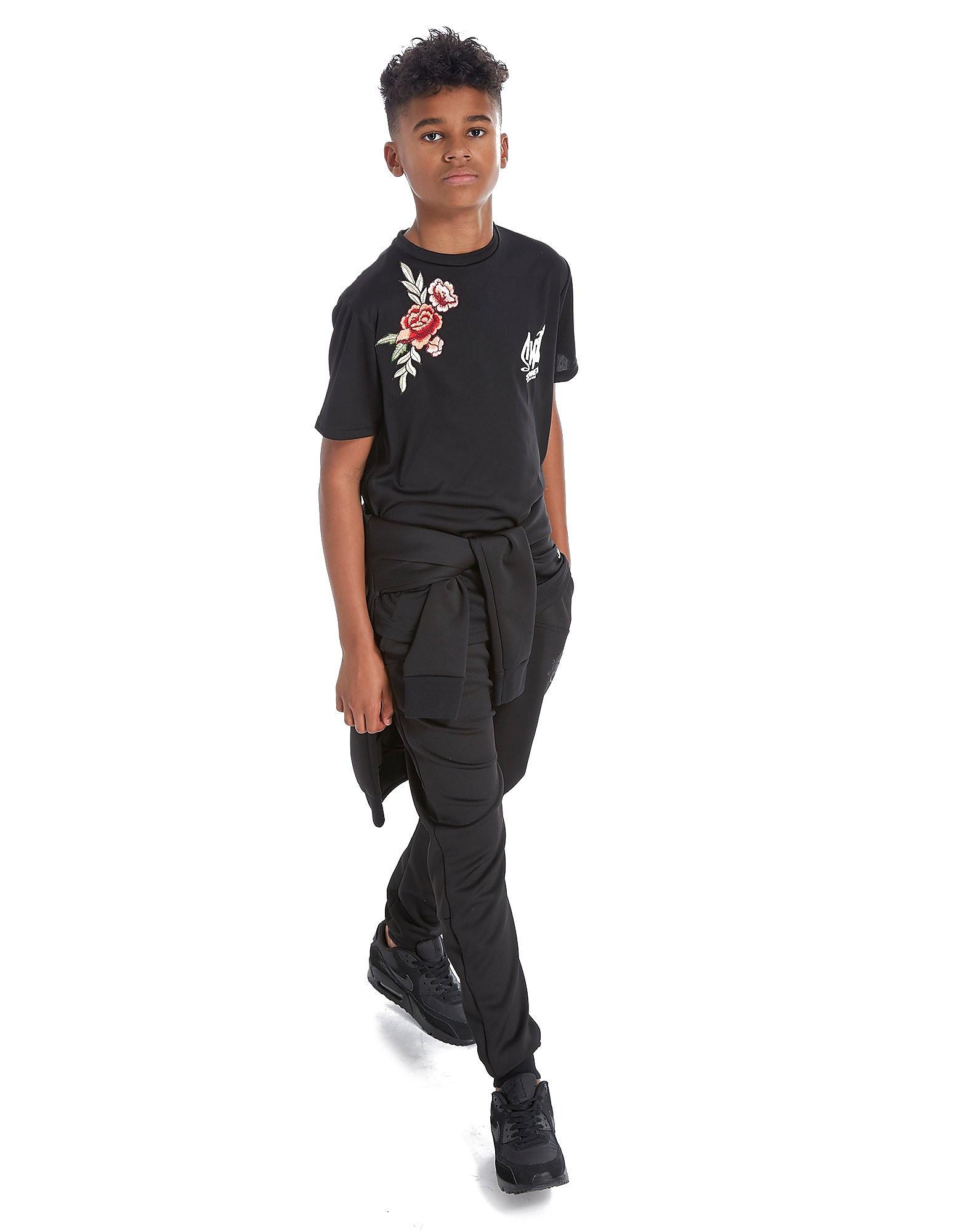 Sonneti Flower Applique T-Shirt Junior - Black, Black