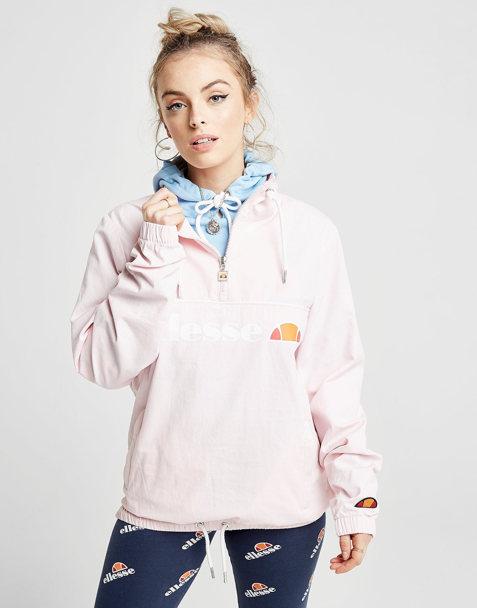 Ellesse 1/4 Zip Logo Jacket