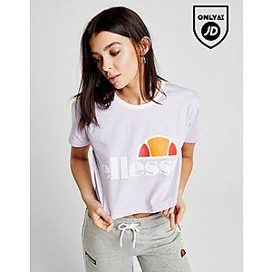 Ellesse Crop Ringer T-Shirt ...