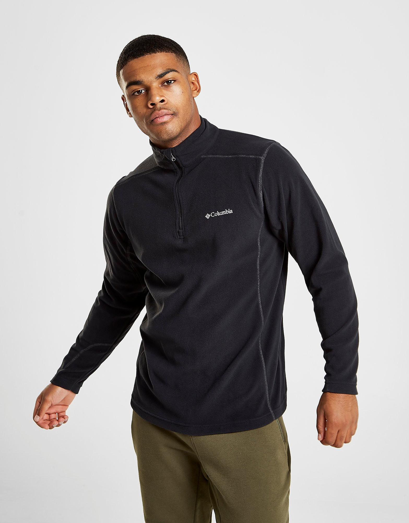 Columbia 1/4 Zip Micro Fleece Top Heren - Zwart - Heren