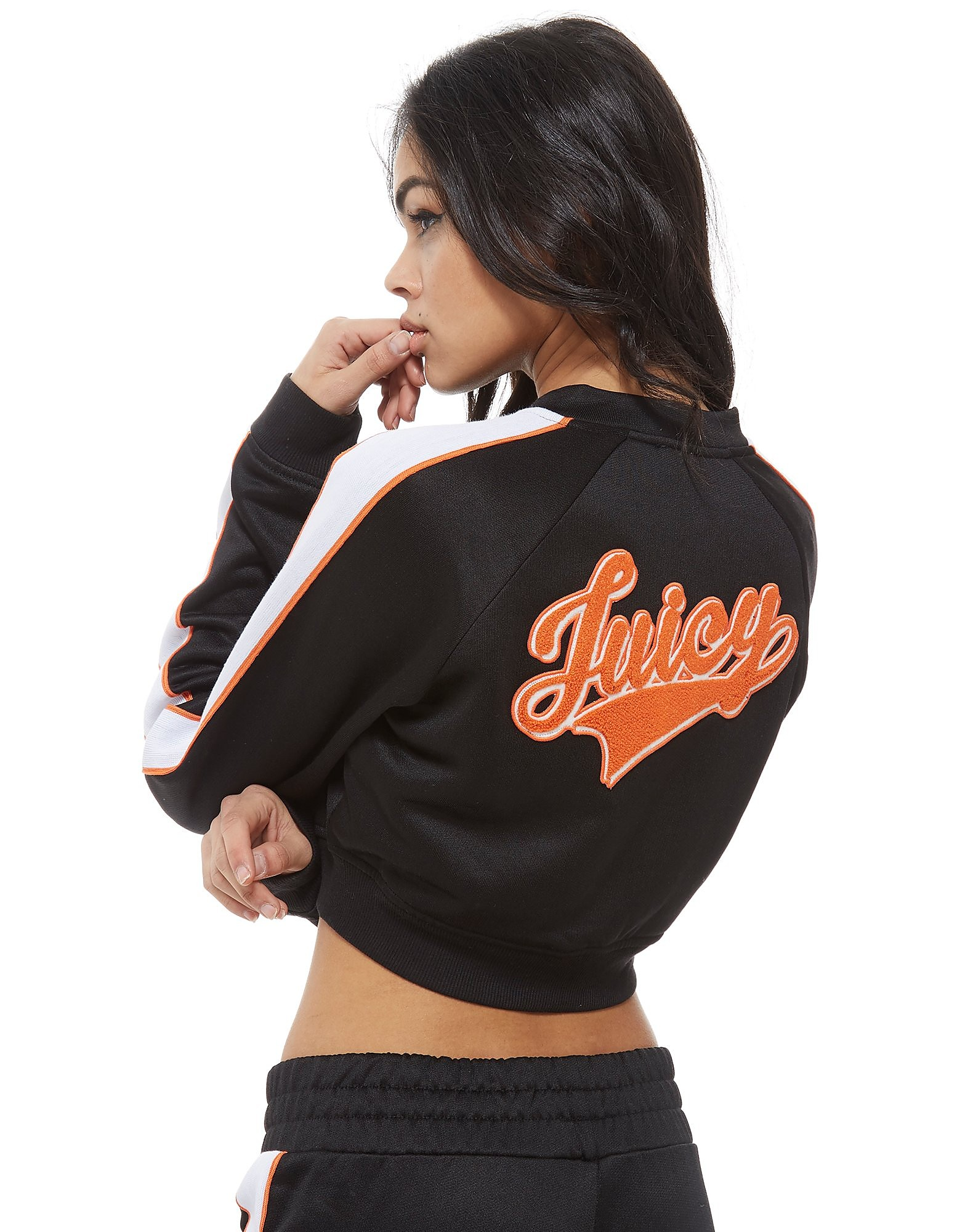 Juicy by Juicy Couture Baseball Crop Full Zip Jacket Dames