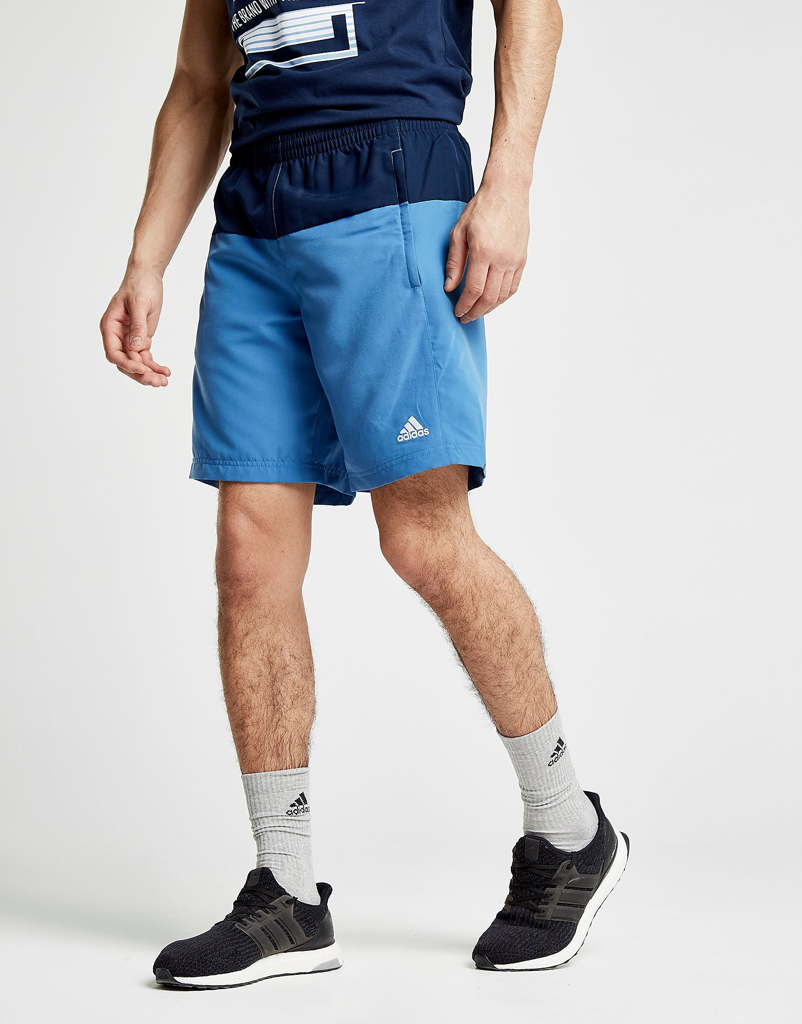 adidas Colourblock Swim Shorts Heren