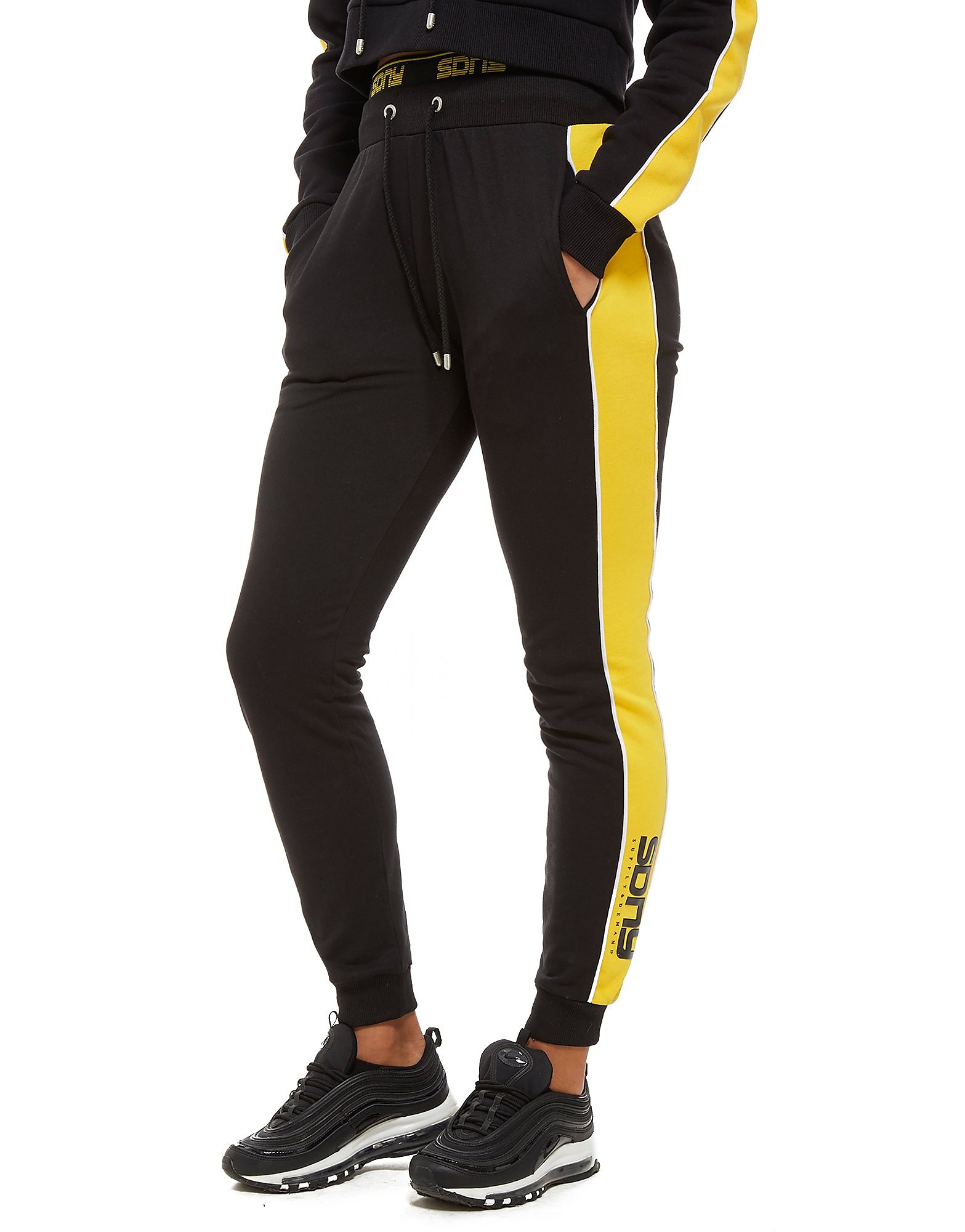 Supply & Demand Piping Panel Joggers - Only at JD - noir/jaune, noir/jaune