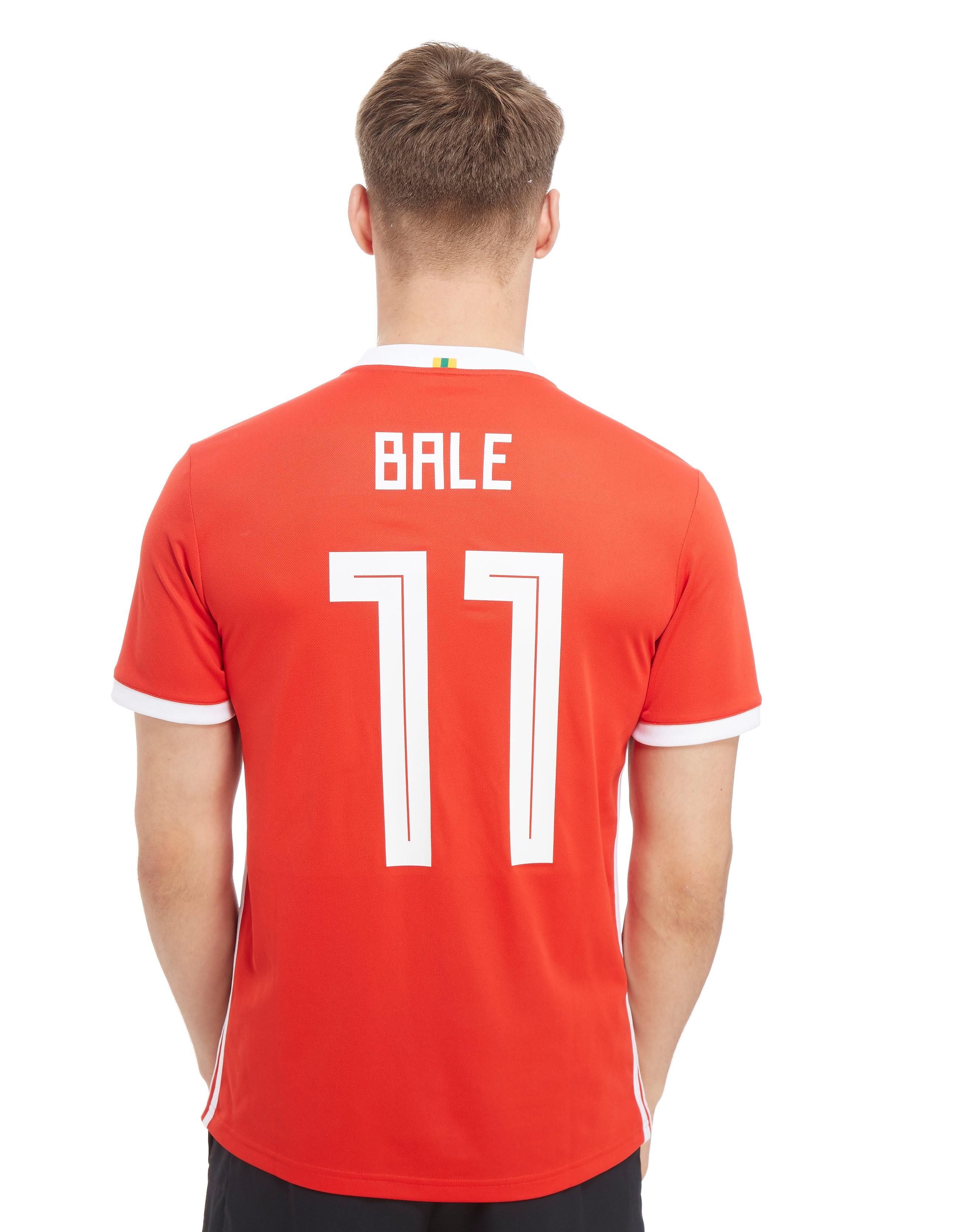 adidas Wales 2018 Home #11 Bale Shirt - Rood - Heren