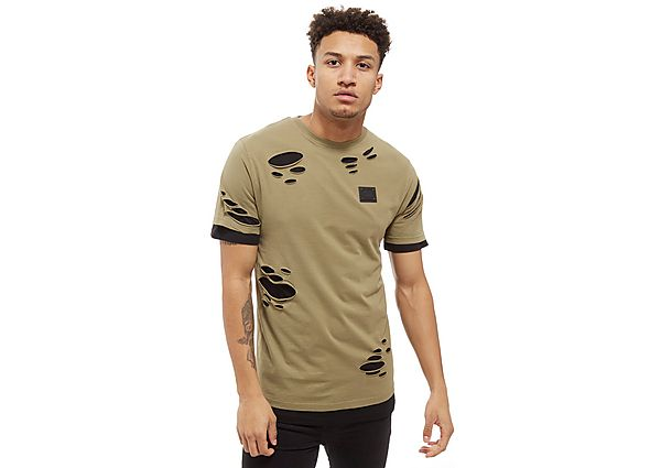 Supply & Demand Double T-Shirt 2 - Only at JD, Sage/Black