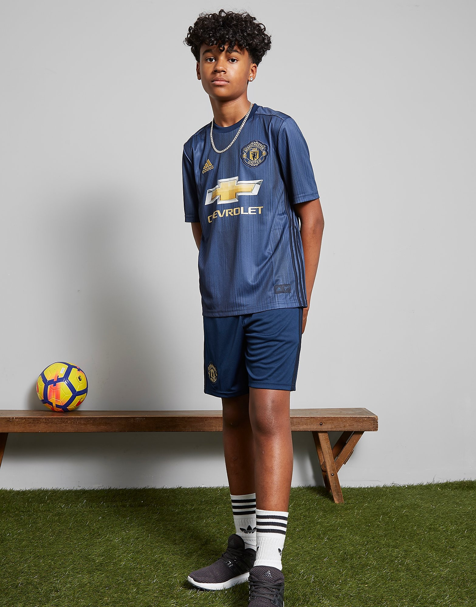 adidas Manchester United 2018/19 Third Shorts Junior